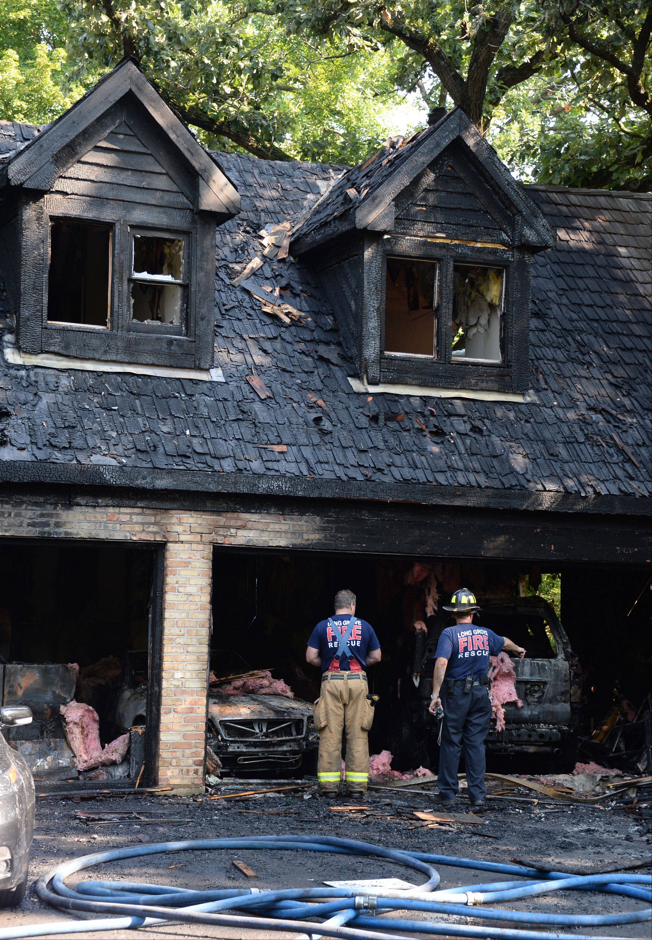 A Monday morning house fire on the 3200 block of Victorian Lane in Long Grove caused an estimated $275,000 in damage to the house and three cars, officials said.