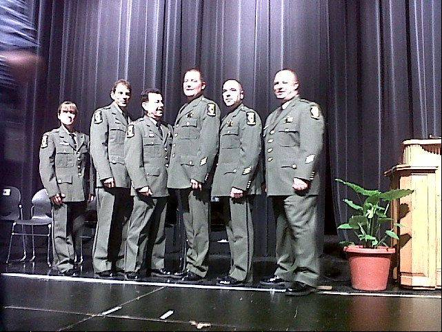 Brion Hanley of Lake in the Hills, center, was named officer of the year by the Illinois State Police at the agency's 36th annual awards ceremony last month at Glenwood High School in Chatham.