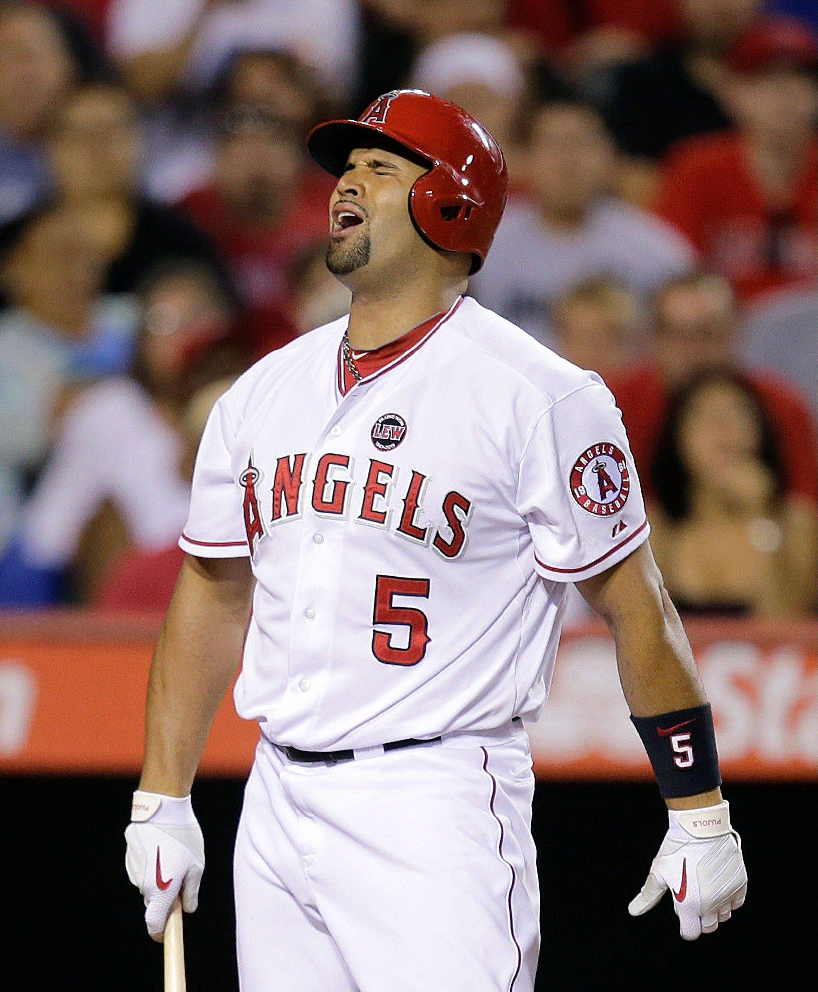 Albert Pujols has partially torn plantar fascia in his left foot.