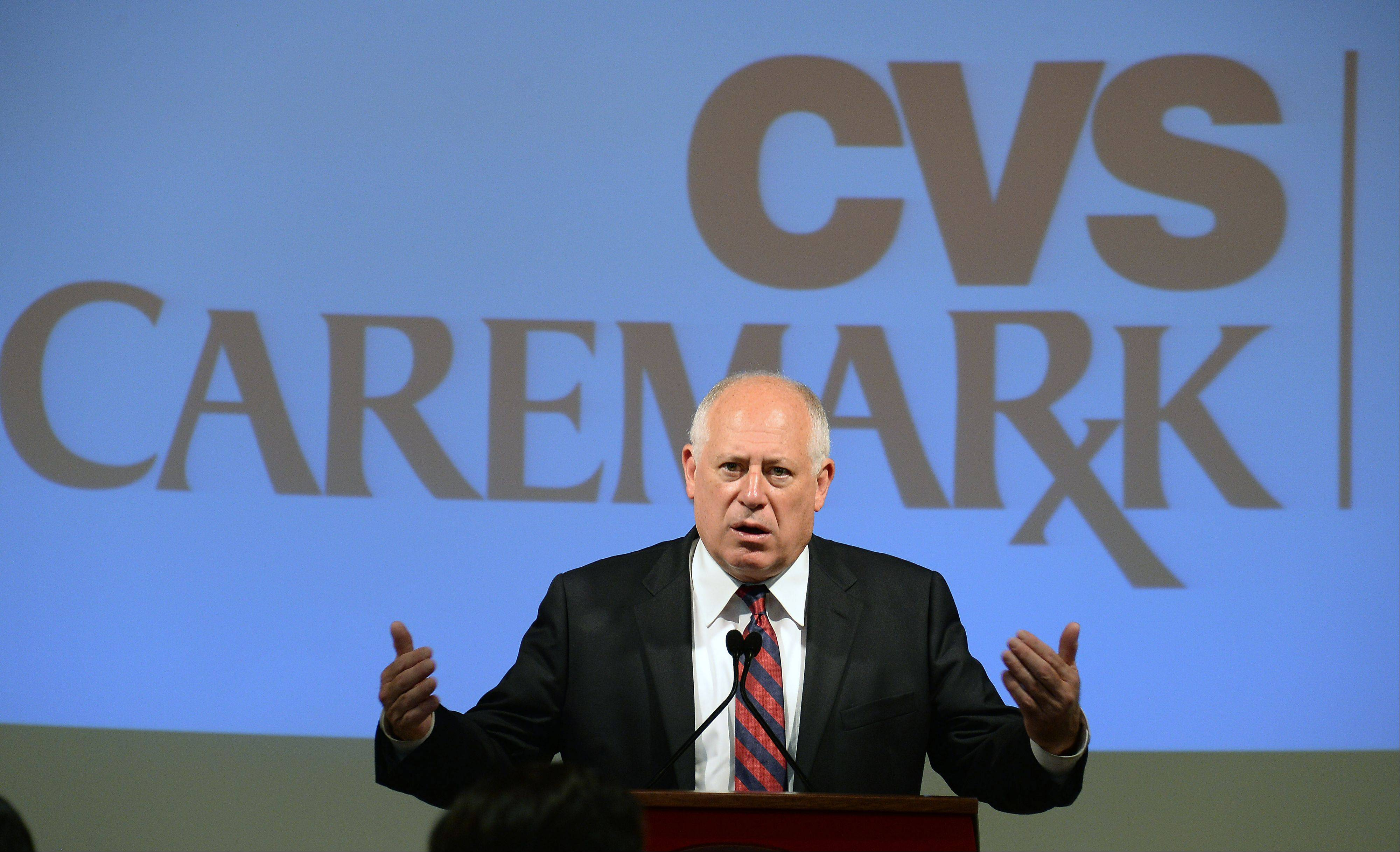 Illinois Gov. Pat Quinn speaks at the new CVS Caremark Mail Service Pharmacy and Customer Center in Mount Prospect, which was unveiled Tuesday.