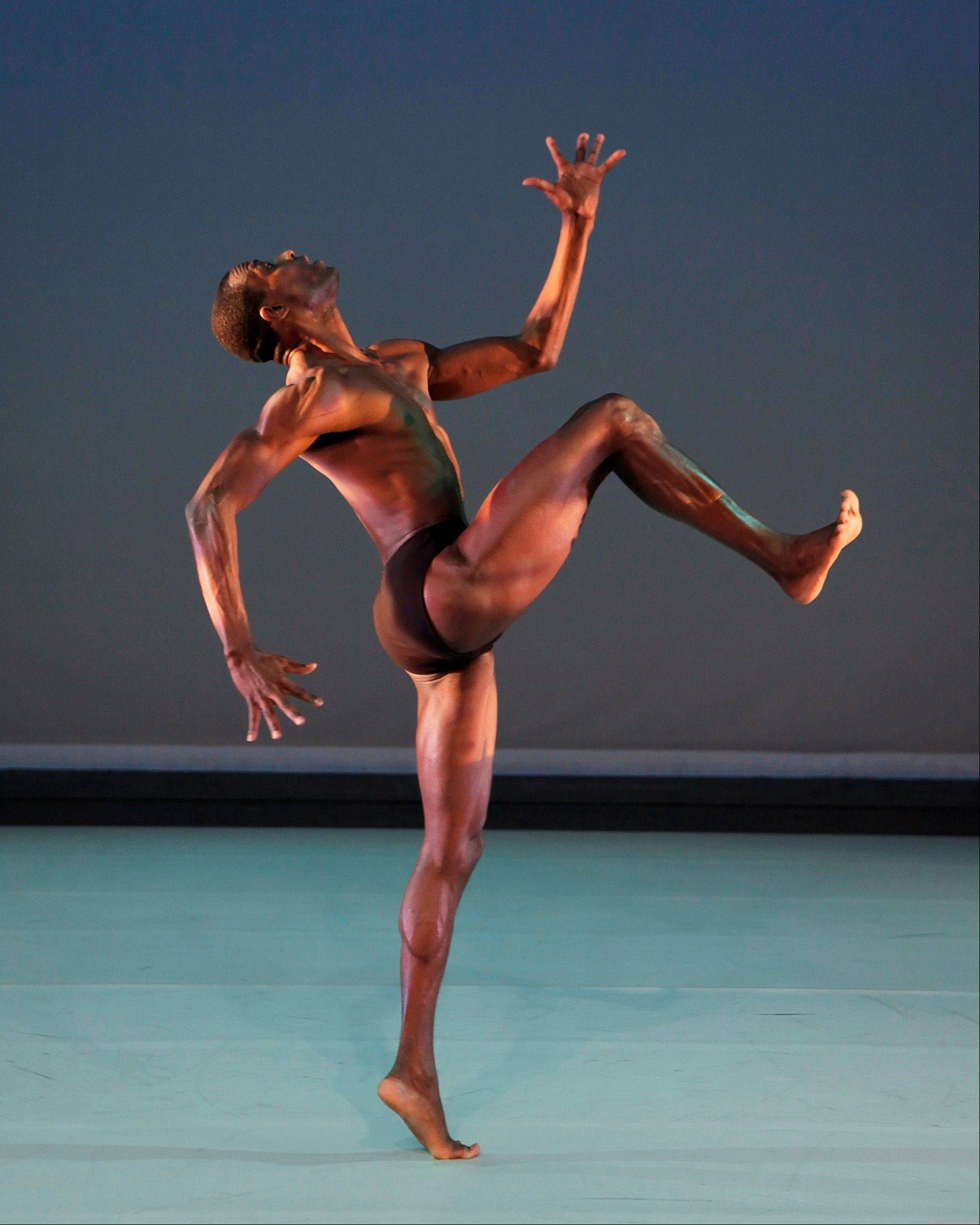 "Samuel Lee Roberts in ""InSide"" for Alvin Ailey American Dance Theater, one of the companies performing for the Chicago Dancing Festival's ""Celebration of Dance"" concert at Millennium Park's Pritzker Pavilion."