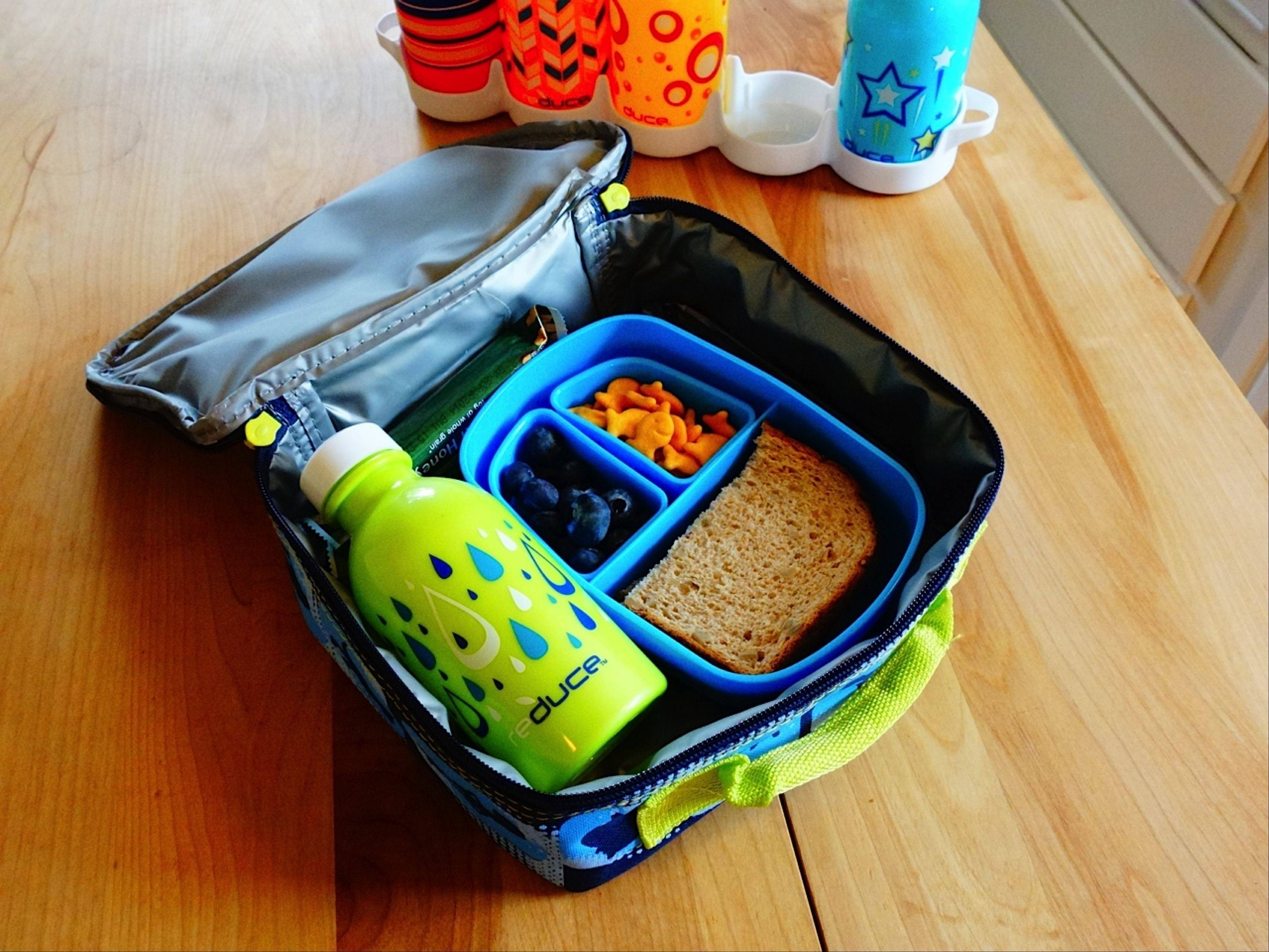 Reduce's 10-ounce reusable water bottles fit nicely into kids' lunchboxes.