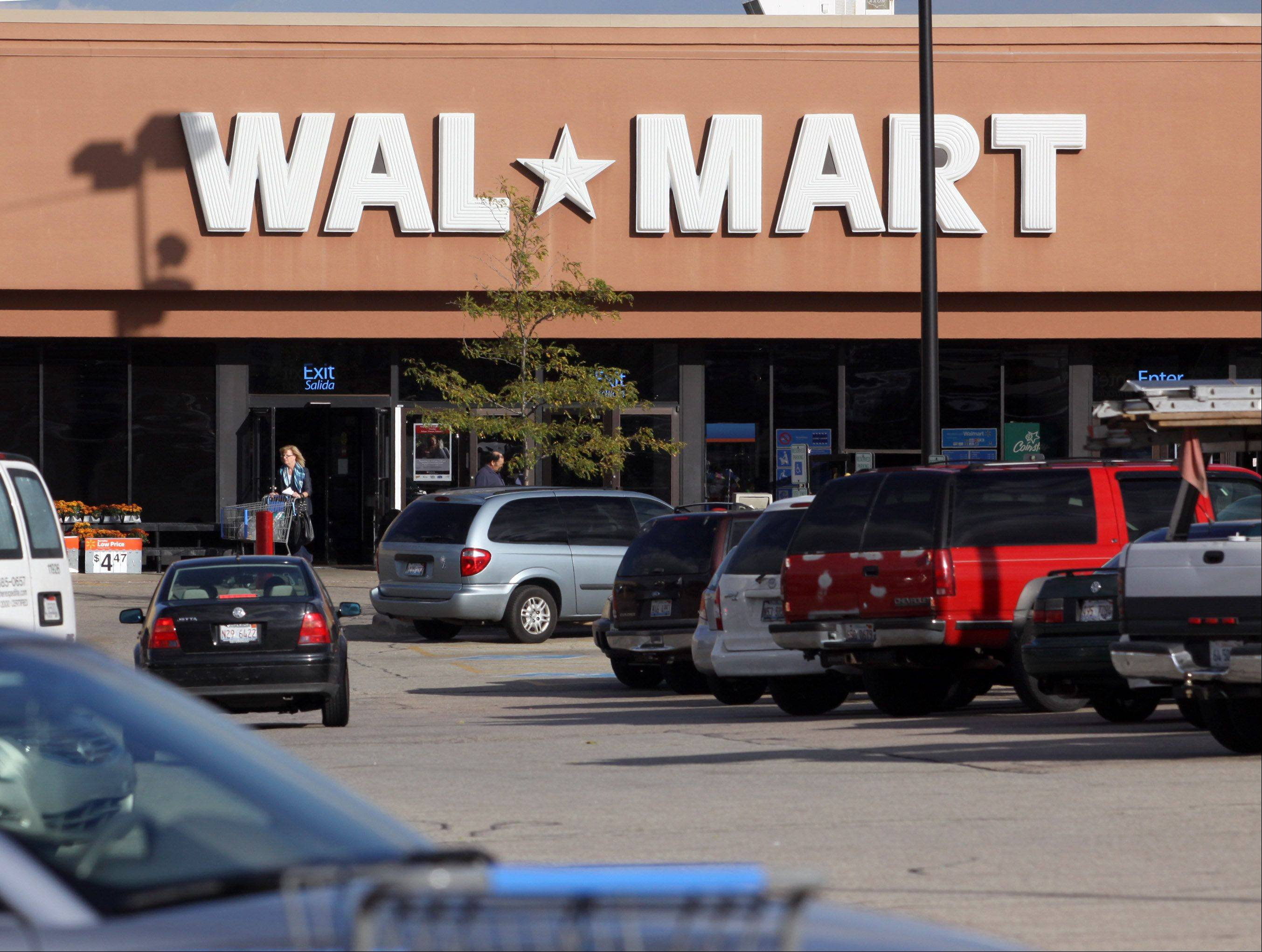 Walmart in East Dundee is located along Route 25 just south of Route 72.
