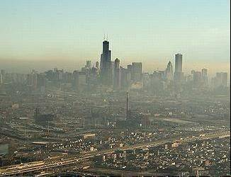 The Illinois Environmental Protection Agency is warning Chicago-area residents about high levels of air pollution.