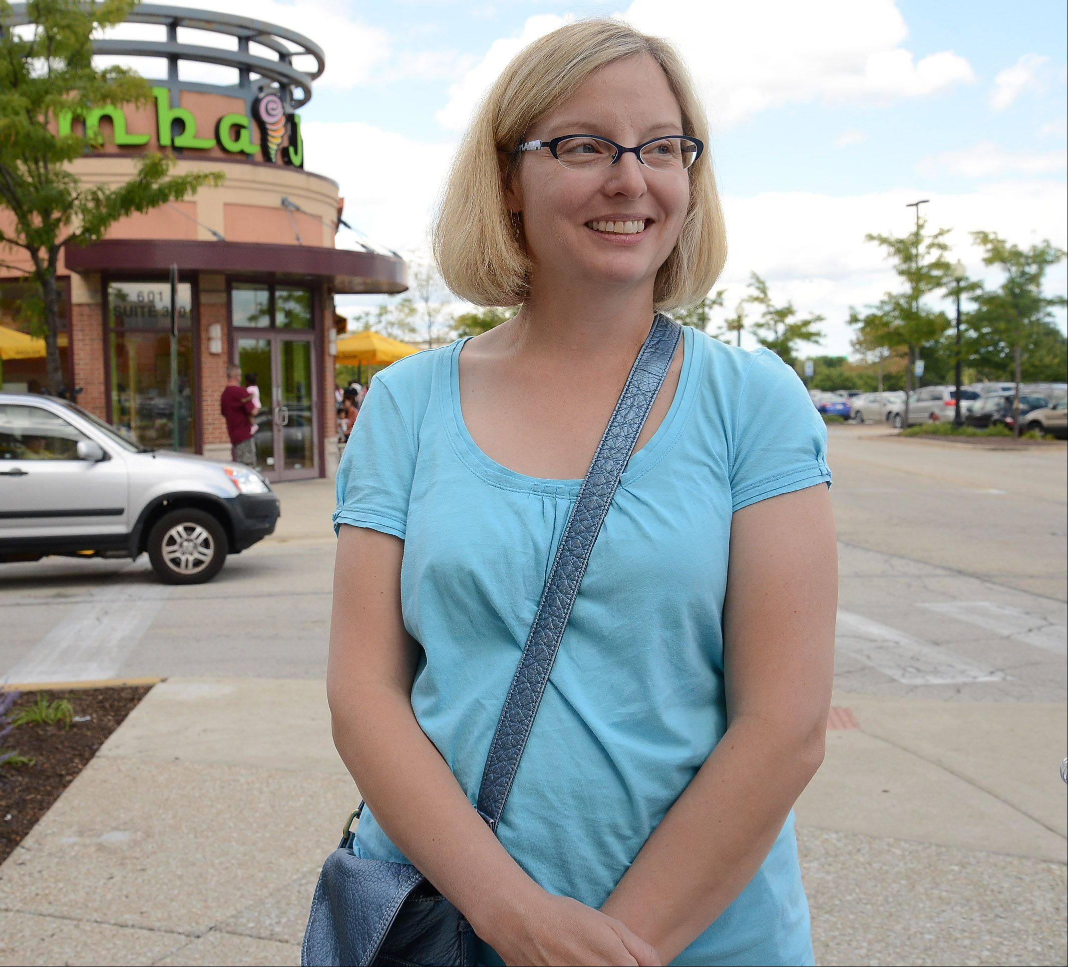 Heather Michalides, of Schaumburg, talks about back-to-school shopping.