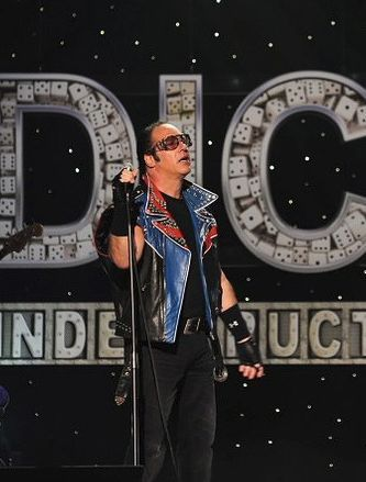 "Andrew Dice Clay performs in August 2012 at the Arcada Theatre for his first stand-up comedy special, ""Indestructible,"" in 15 years. The concert was released by Showtime."