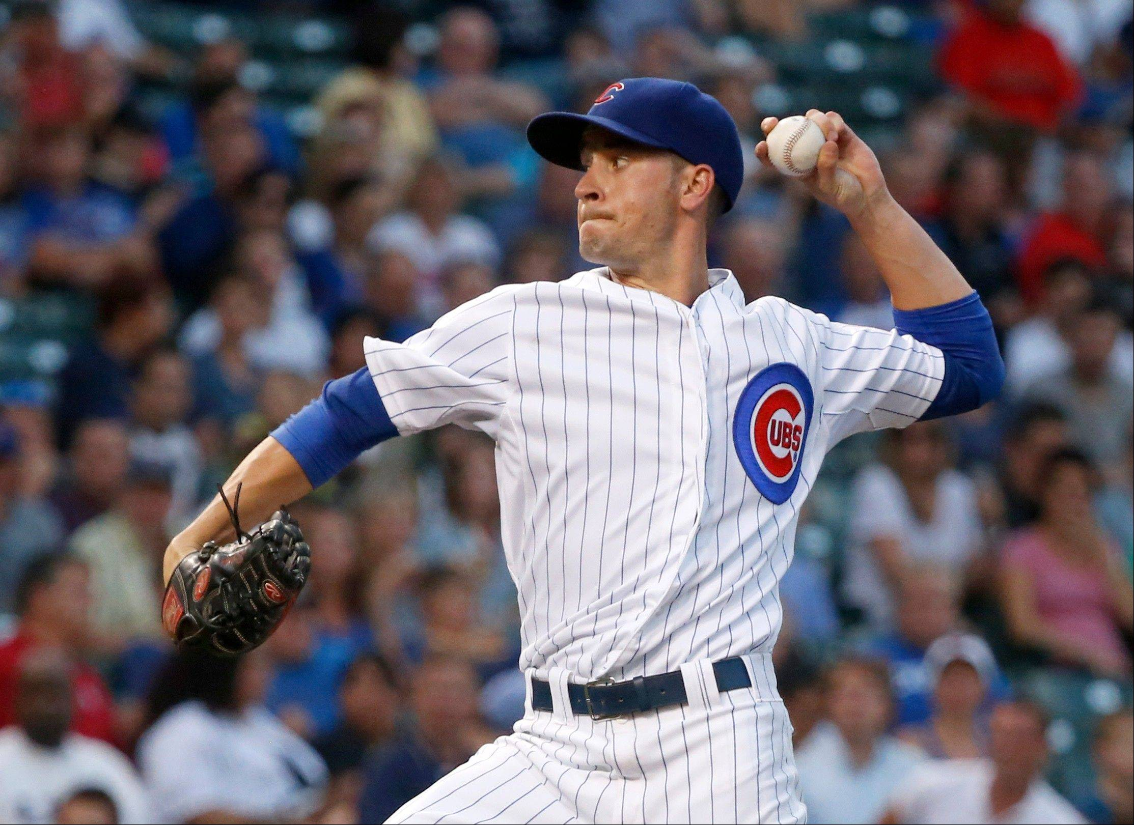 Cubs starting pitcher Chris Rusin gave up 2 runs on 10 hits and saw his record drop to 2-3 with Tuesday night's loss to the Nationals.