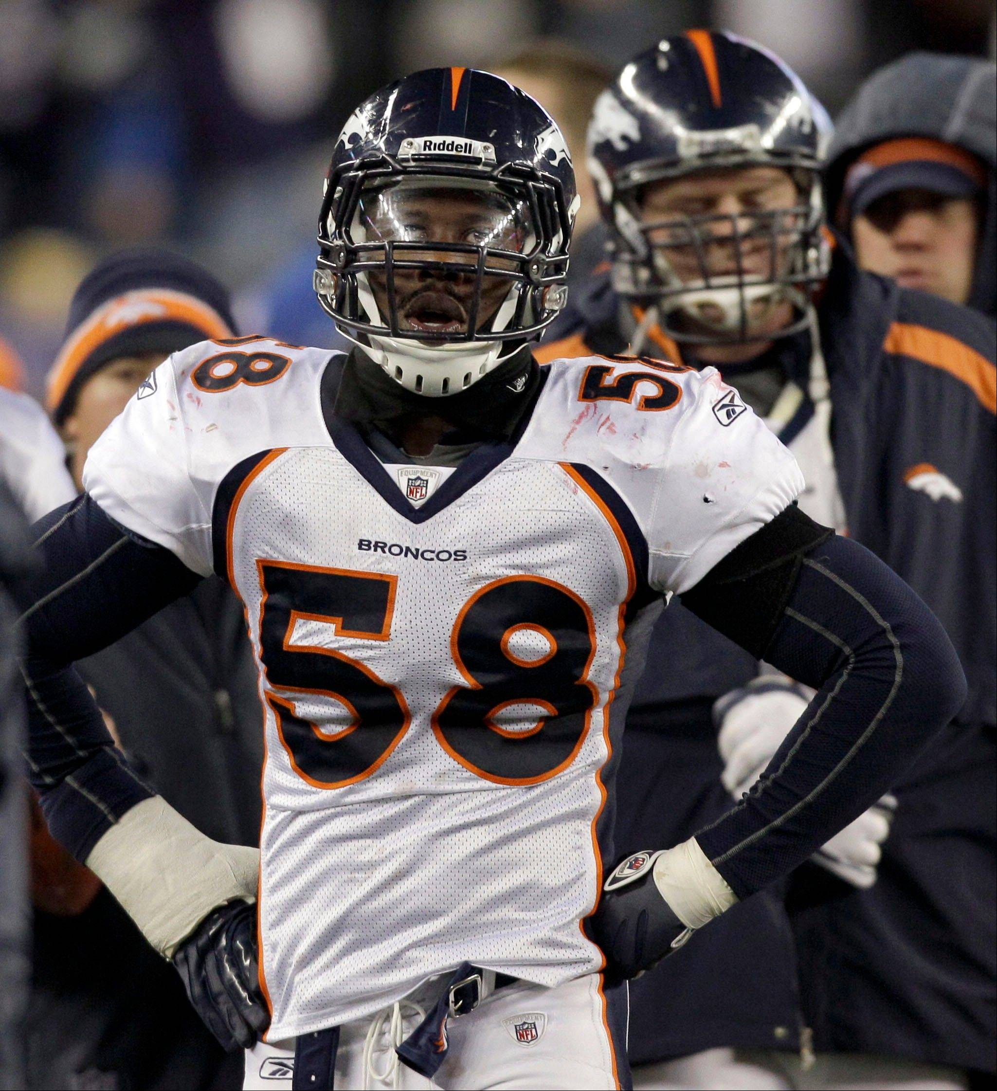 Denver Broncos linebacker Von Miller has to sit out six games this season.