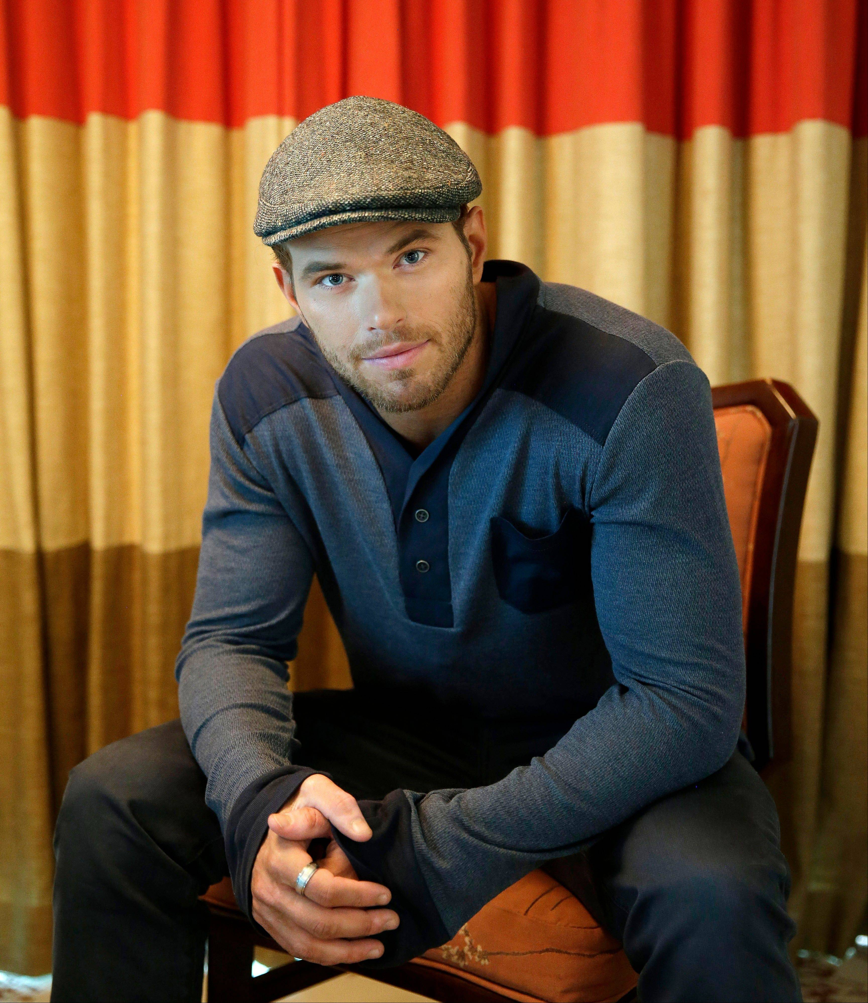 Actor-designer Kellan Lutz is promoting his clothing line Abbot + Main�s pre-spring 2014 collection.