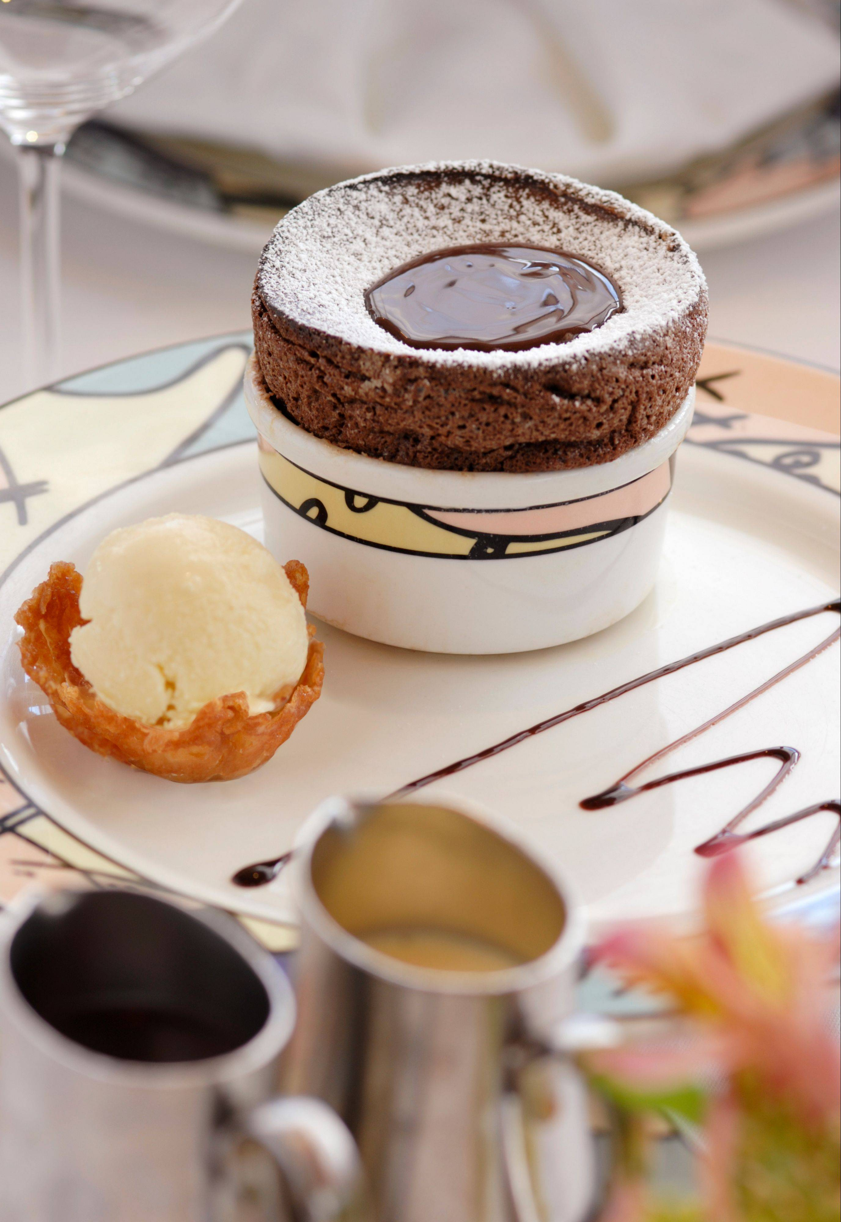 Chocolate souffle is a signature dessert at Palo restaurant aboard Disney Magic and it's not that difficult to re-create at home.
