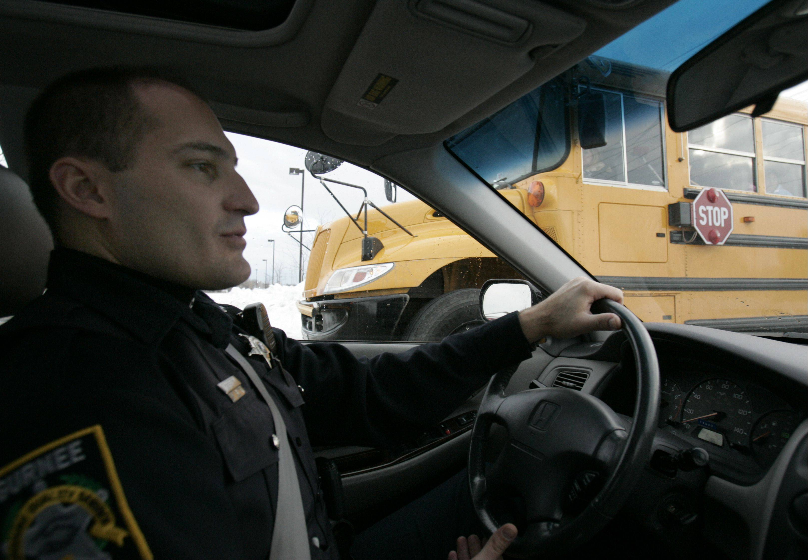 Police crackdowns have helped in the past to stem violators who drive through the stop arm of school buses.