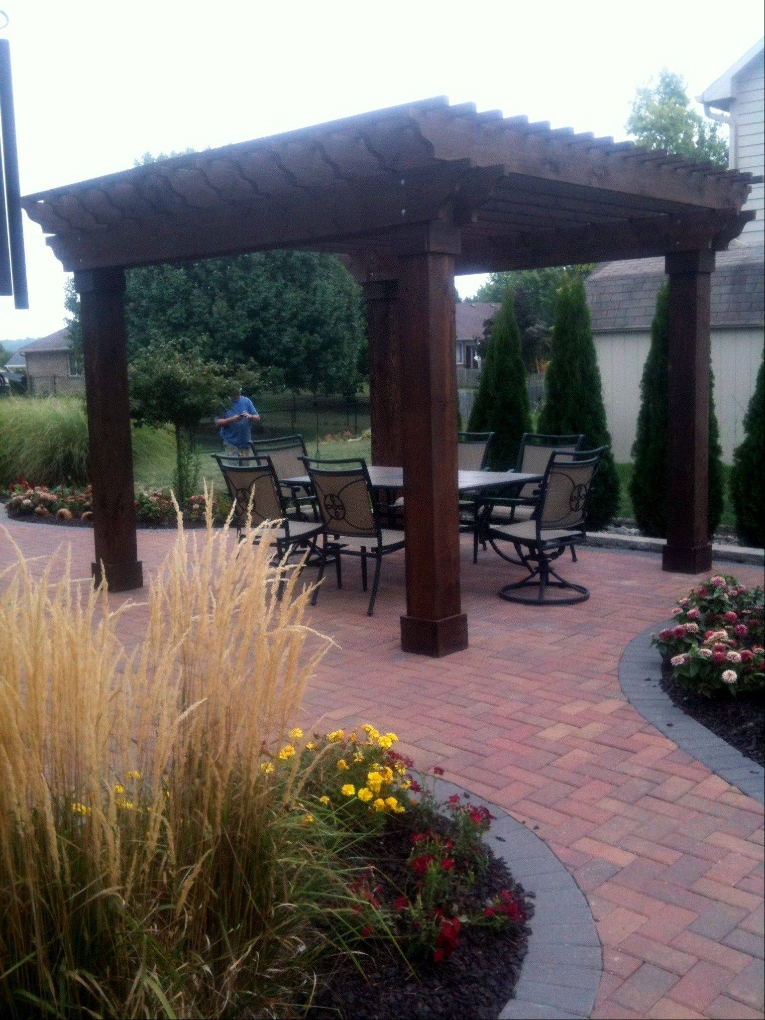 Pergolas have been popular in Europe for generations, and now are commonly seen in the Midwest.
