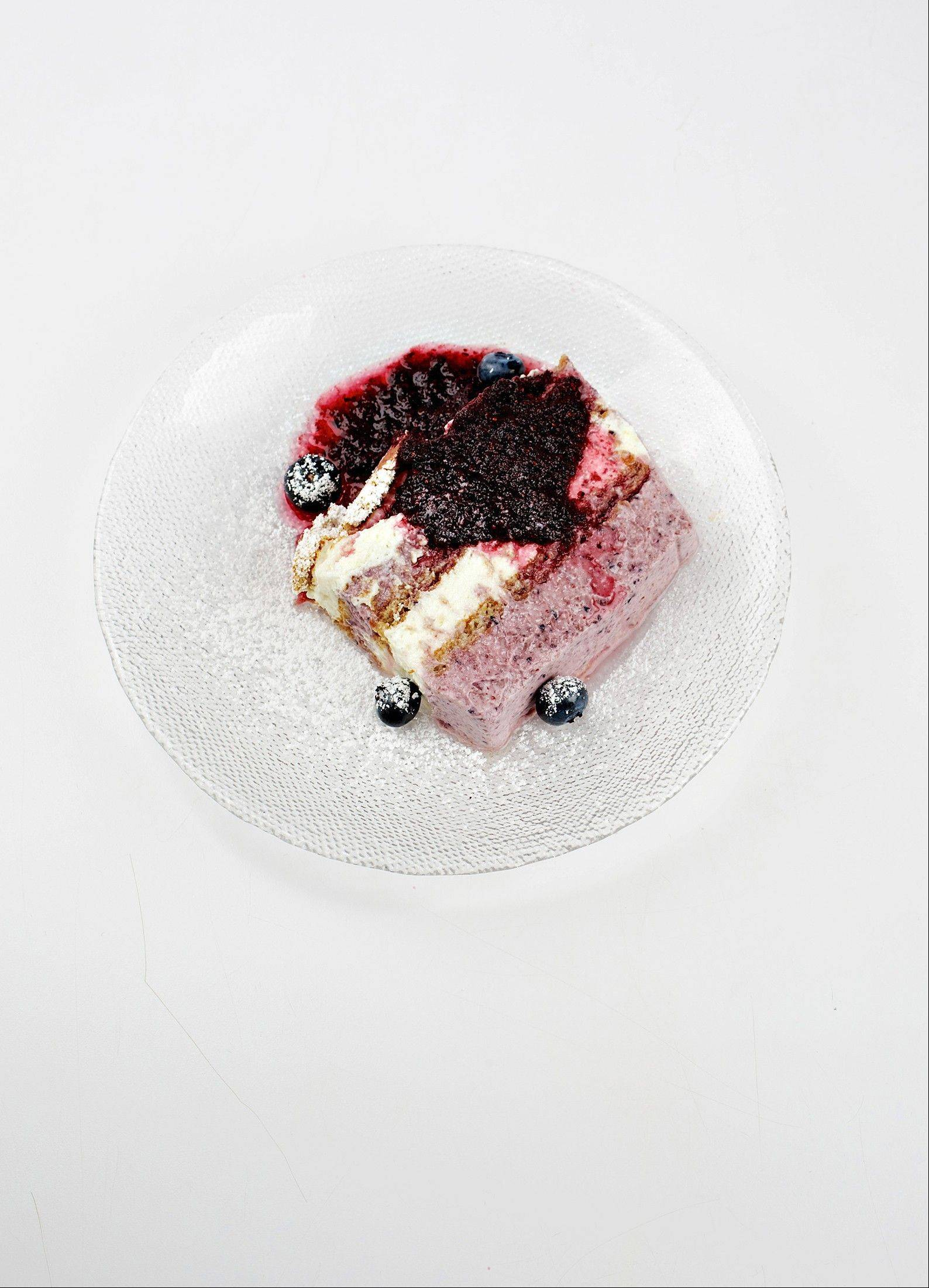 Blueberry and Lemon-Cream Icebox Cake contains fruity, creamy layers and is prepared sans oven.