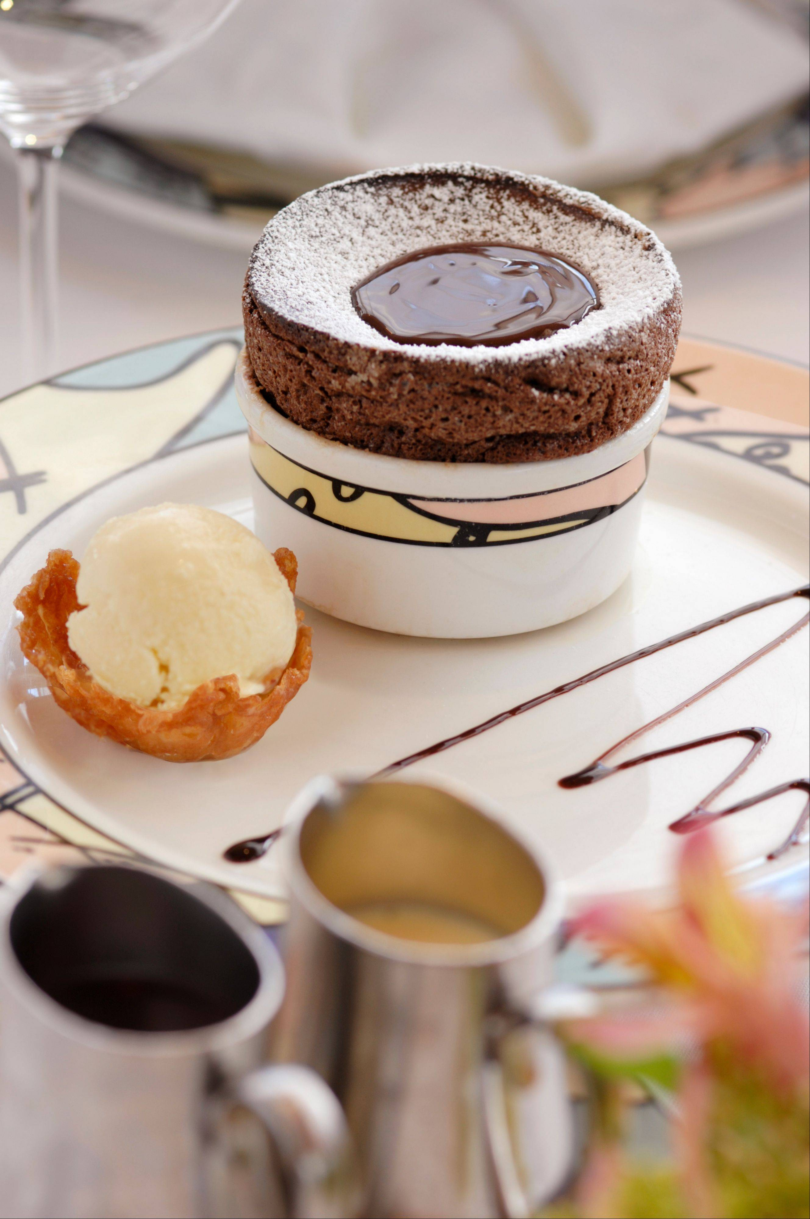 Chocolate souffle is a signature dessert at Palo restaurant aboard Disney Magic and it's not that difficult to recreate at home.