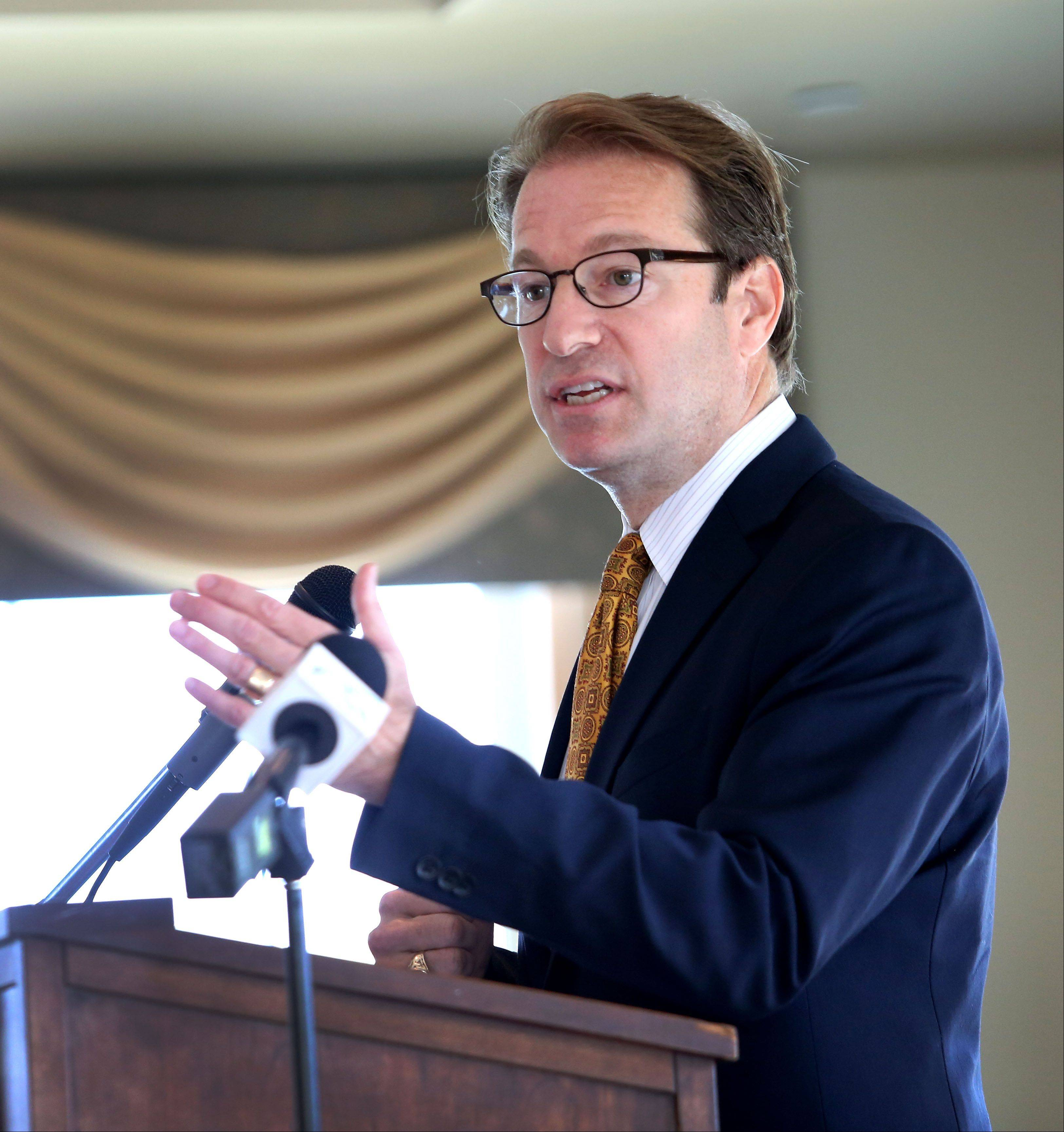 U.S. Rep Peter Roskam speaks at a Tax Reform Town Hall meeting at Cress Creek Country Club in Naperville.