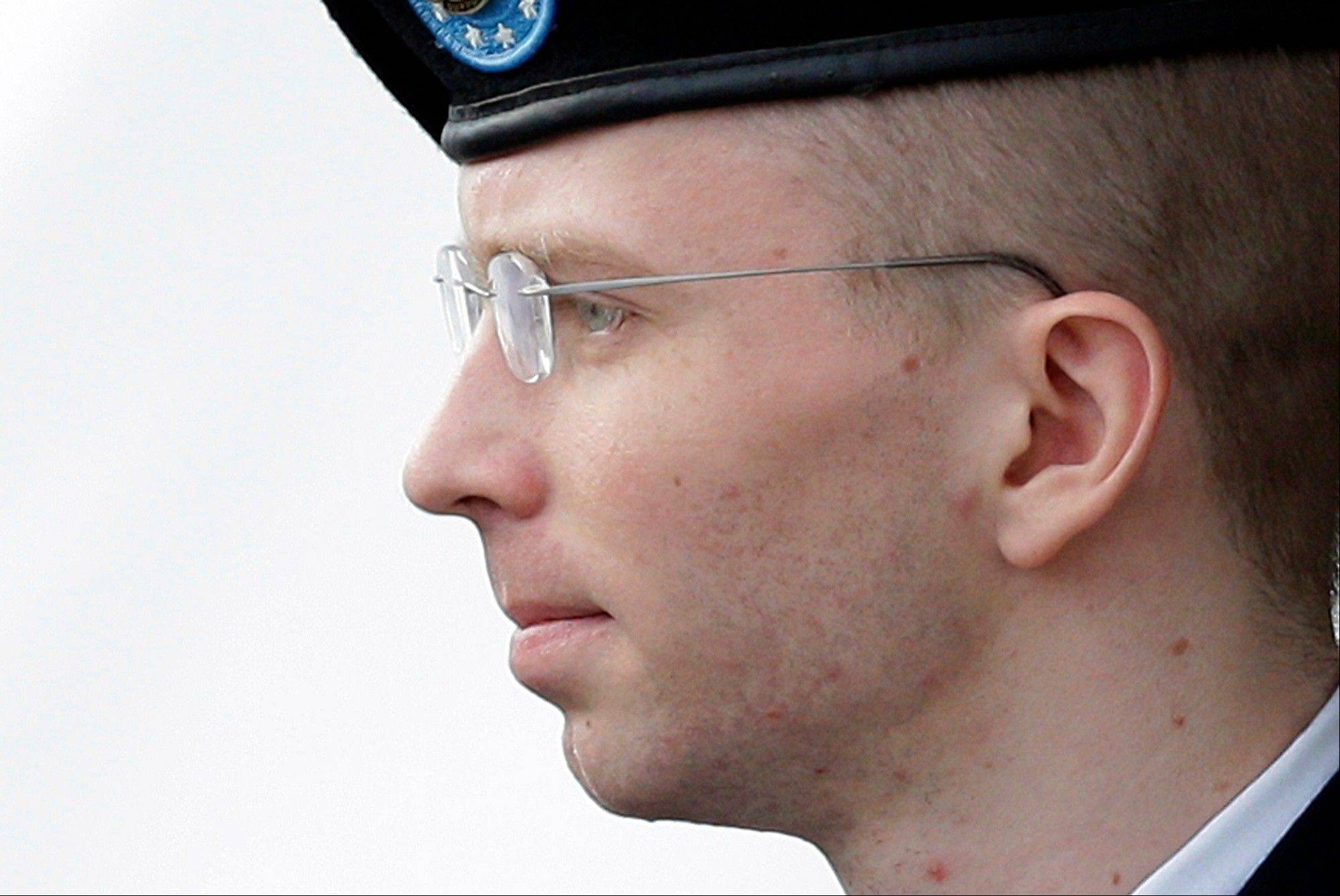 Army Pfc. Bradley Manning was sentenced to 35 years in prison for giving military secrets to the website WikiLeaks.