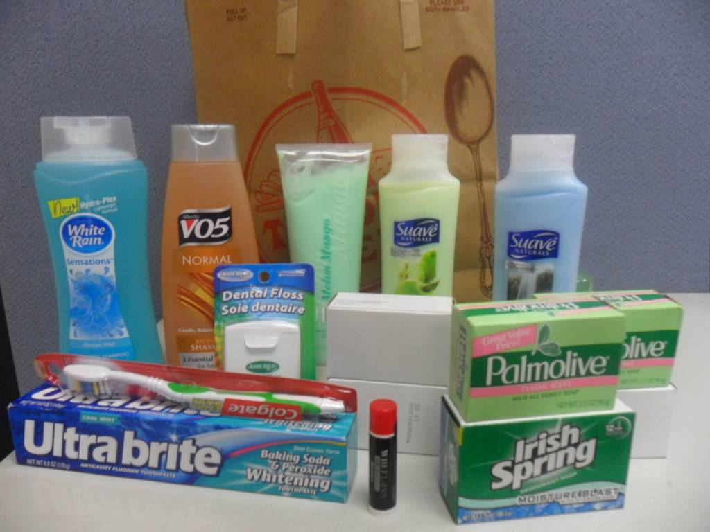 Contents of the senior care kits from the Working Mother's Council.