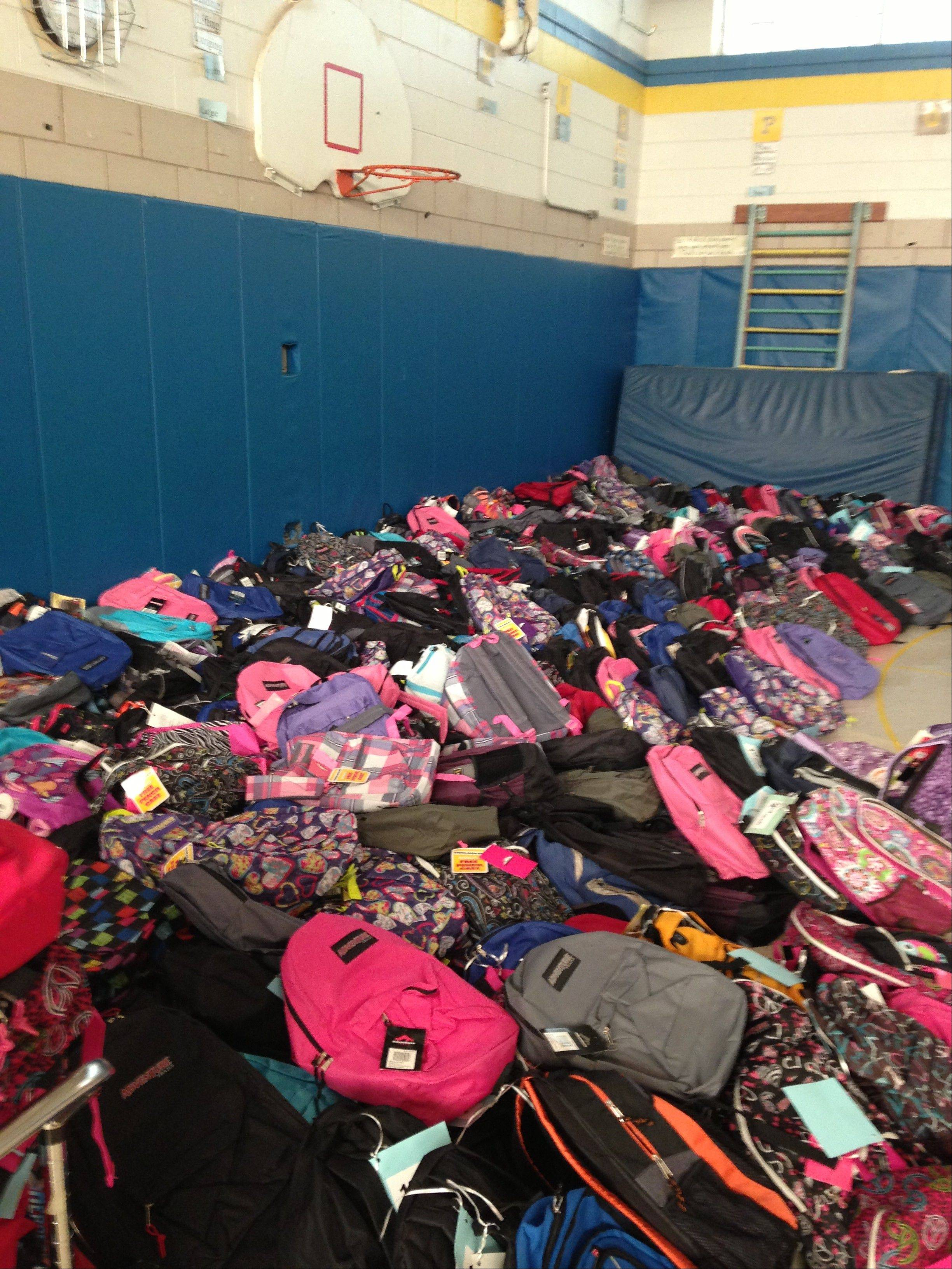 Hanover Township distributed more than 1,000 backpacks to needy families last week as part of its effort to help kids get off to a good start in the new school year.