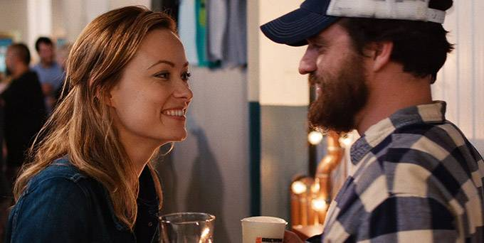 "Olivia Wilde and Jake Johnson star in ""Drinking Buddies."""