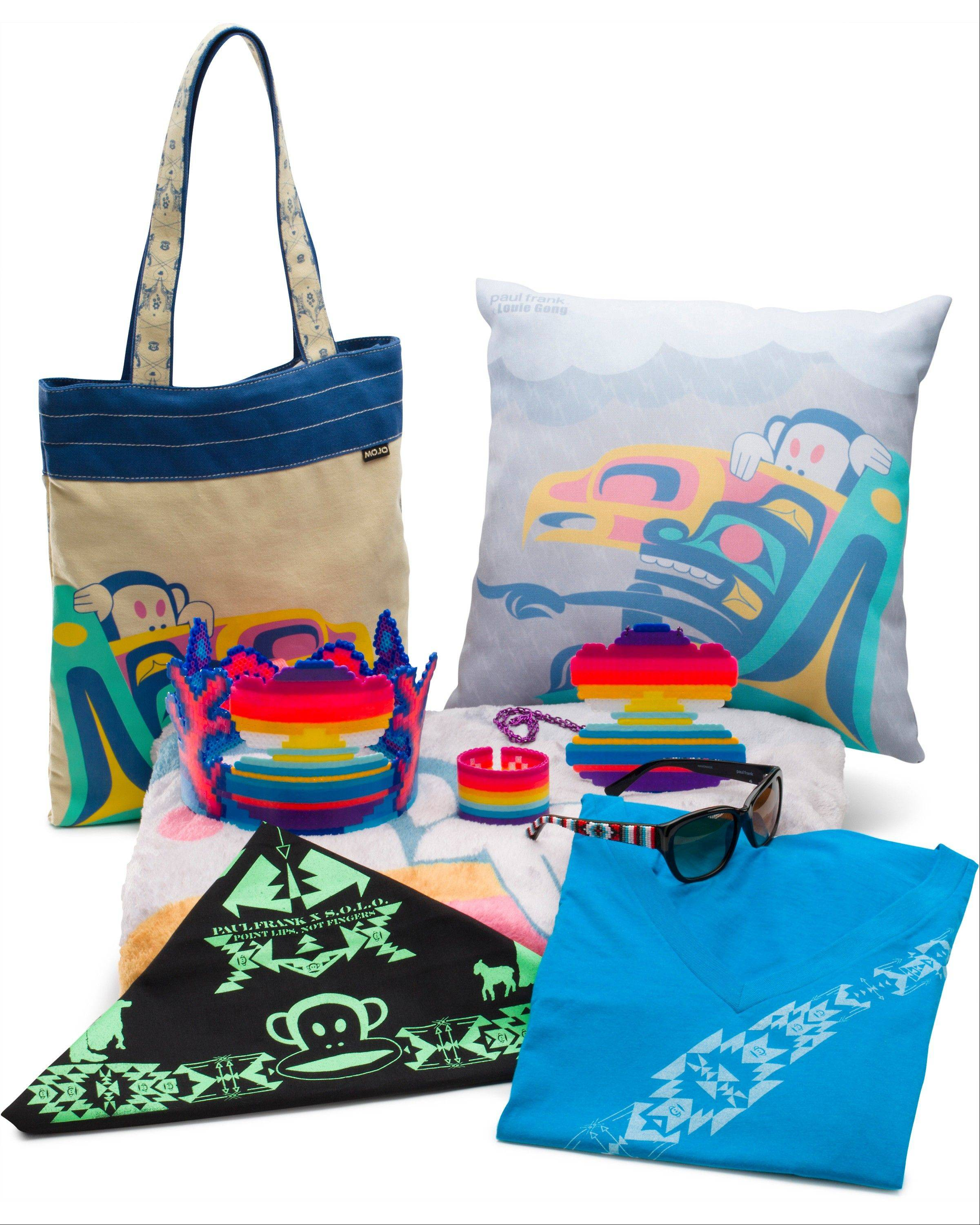 Merchandise created through a collaboration with four Native American artists and designers.