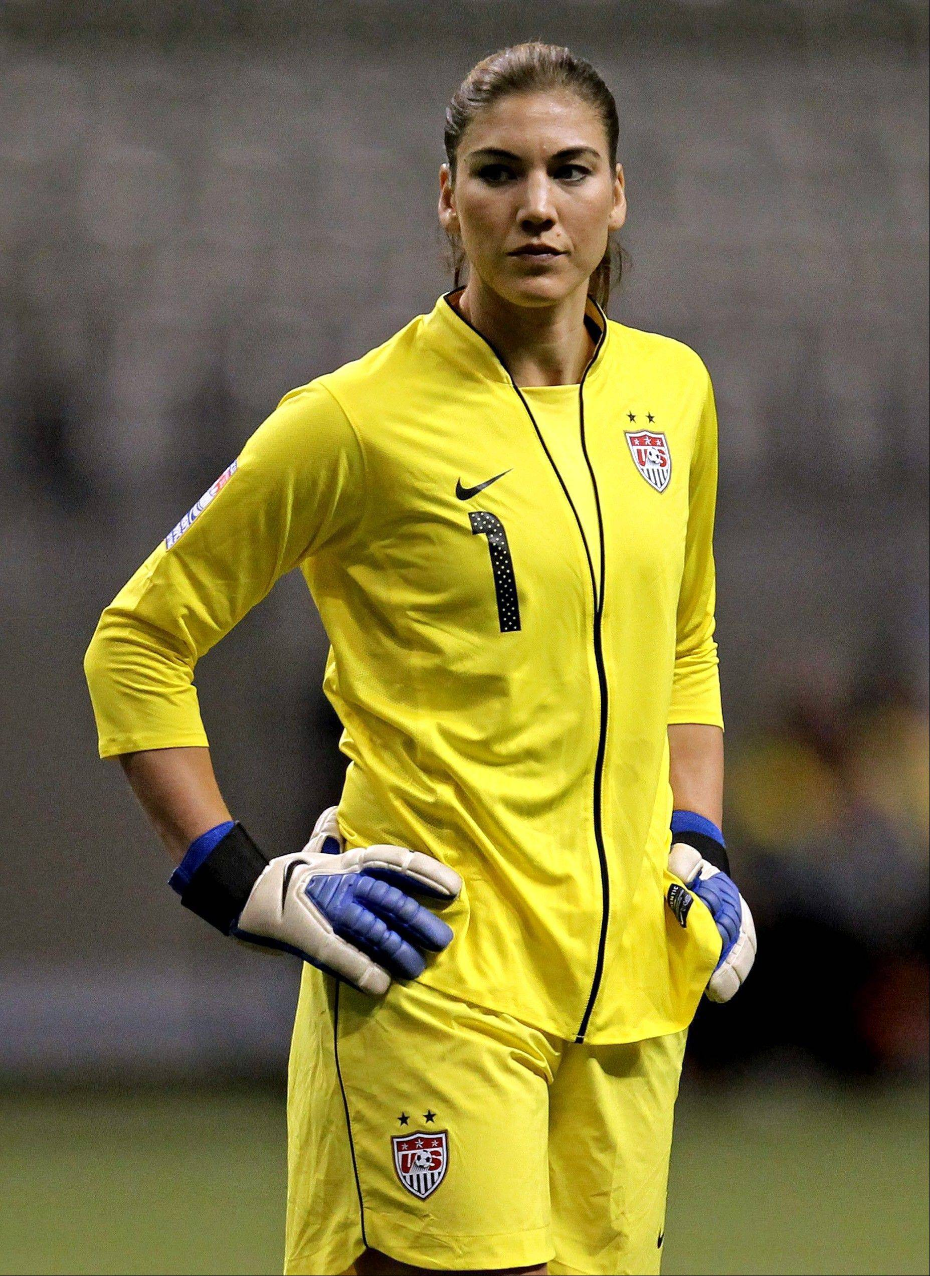 Hope Solo will be minding the net on Sept. 3 when the U.S. national team plays Mexico.