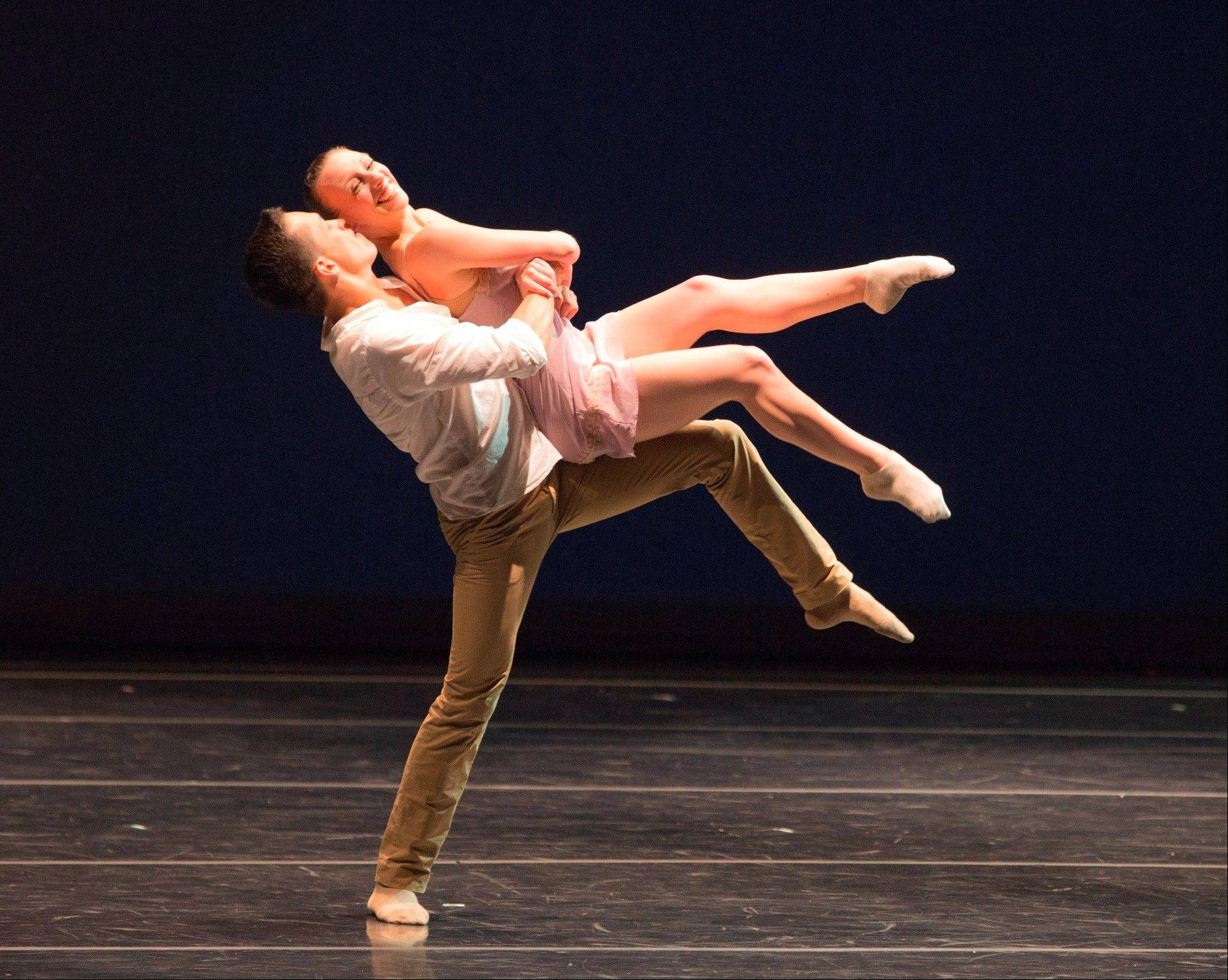 """Two Becomes Three"" performed by Giordano Dance Chicago, which performs at the Prairie Center for the Arts in Schaumburg at 8 p.m. Saturday, March 1."