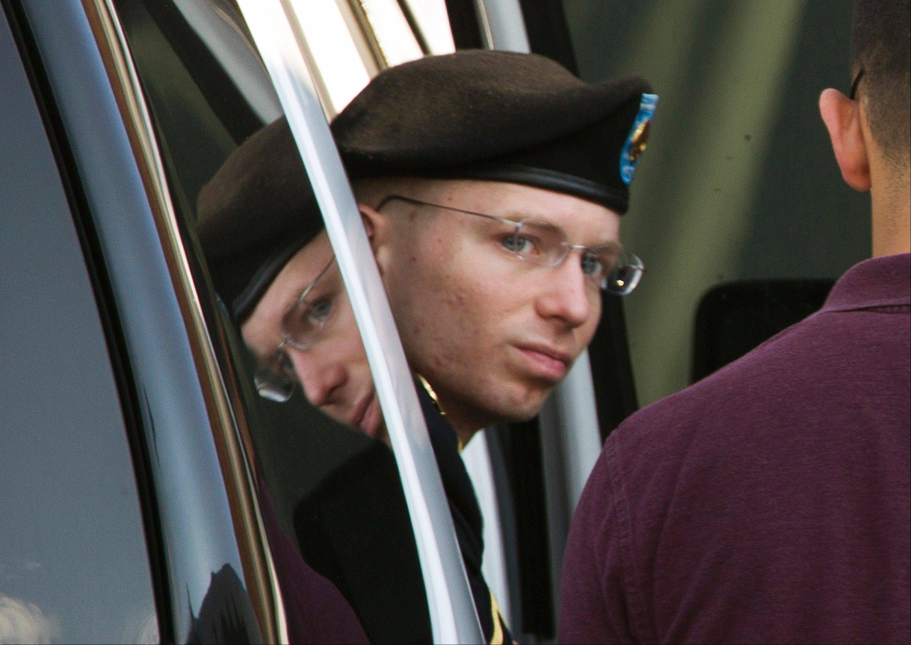 "Army Pfc. Bradley Manning said in a writtens statement provided to NBC's ""Today"" show that he plans to live as a woman named Chelsea."