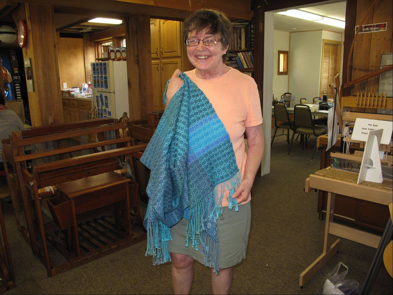 "Although Selinda Chasteen of DeKalb lost her sight through a stroke, she has learned to weave at Fine Line Creative Arts Center in St. Charles, which offers a class in weaving for the visually impaired, and has gained friends and mentors in the process. ""This class gave me hope,"" Chasteen said."