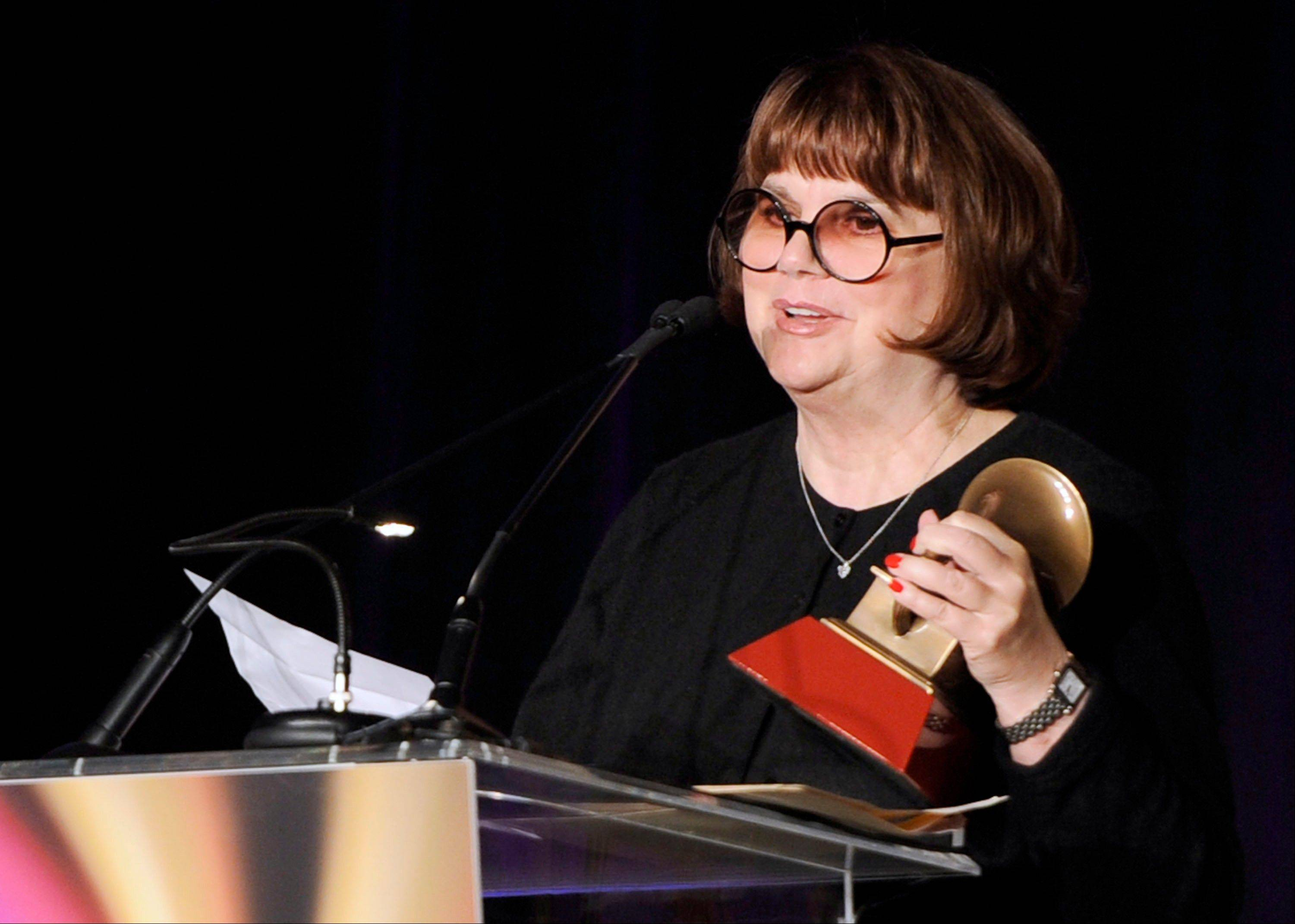 In 2011, Linda Ronstadt accepts the Life Time Achievement award at the Latin Recording Academy Lifetime Achievement Award and Trustees Award ceremony in Las Vegas.