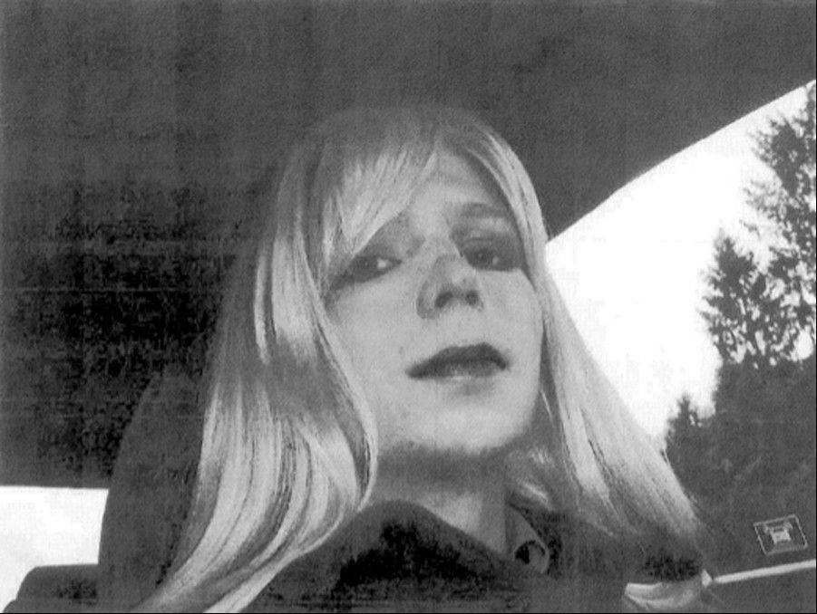 U.S. Army, Pfc. Bradley Manning poses for a photo wearing a wig and lipstick. Manning emailed his military therapist the photo with a letter titled, �My problem,� in which he described his issues with gender identity and his hope that a military career would �get rid of it.�