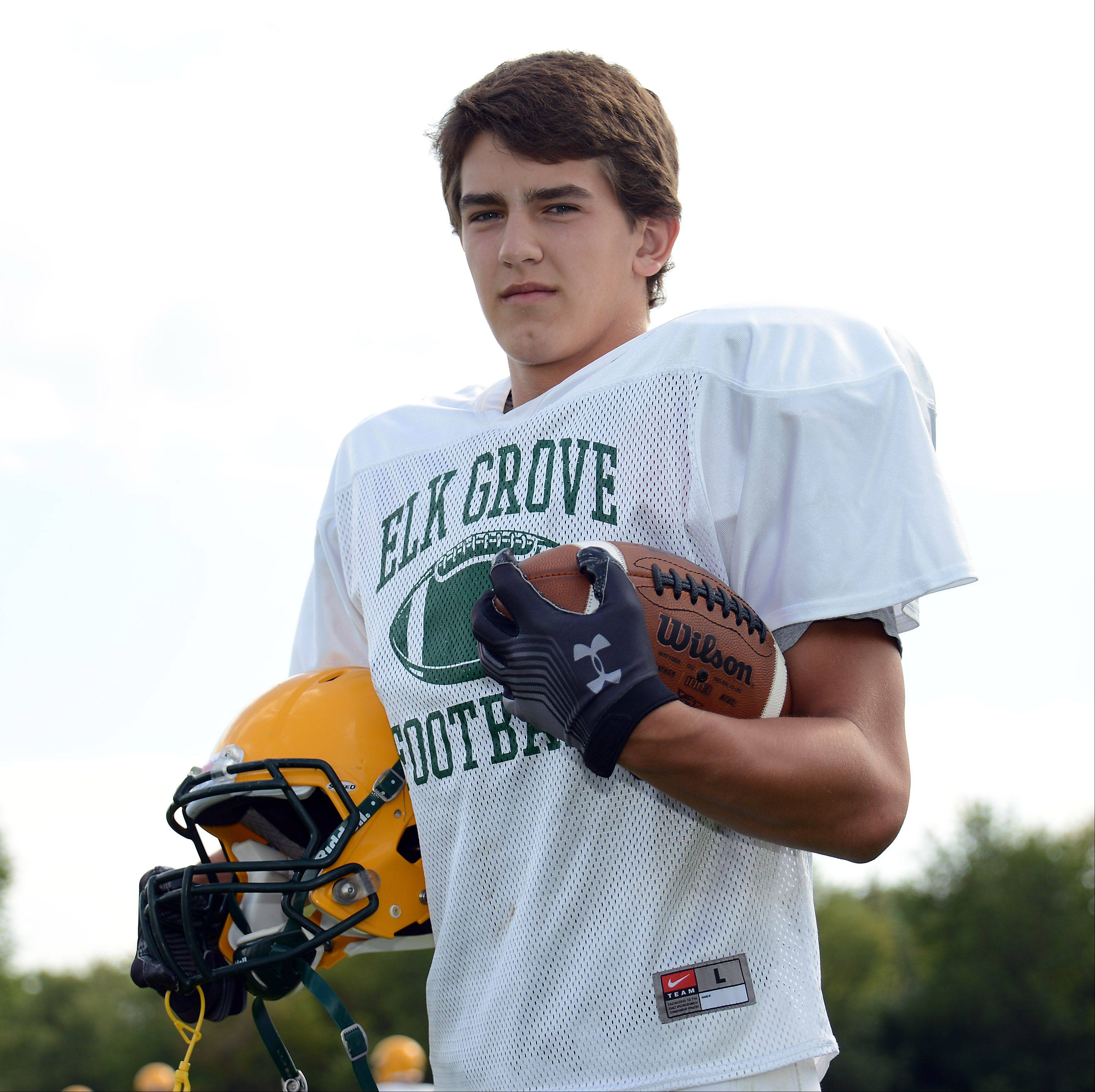 Senior standout Mike Bishoff leads what figures to be a strong Elk Grove defense this fall.