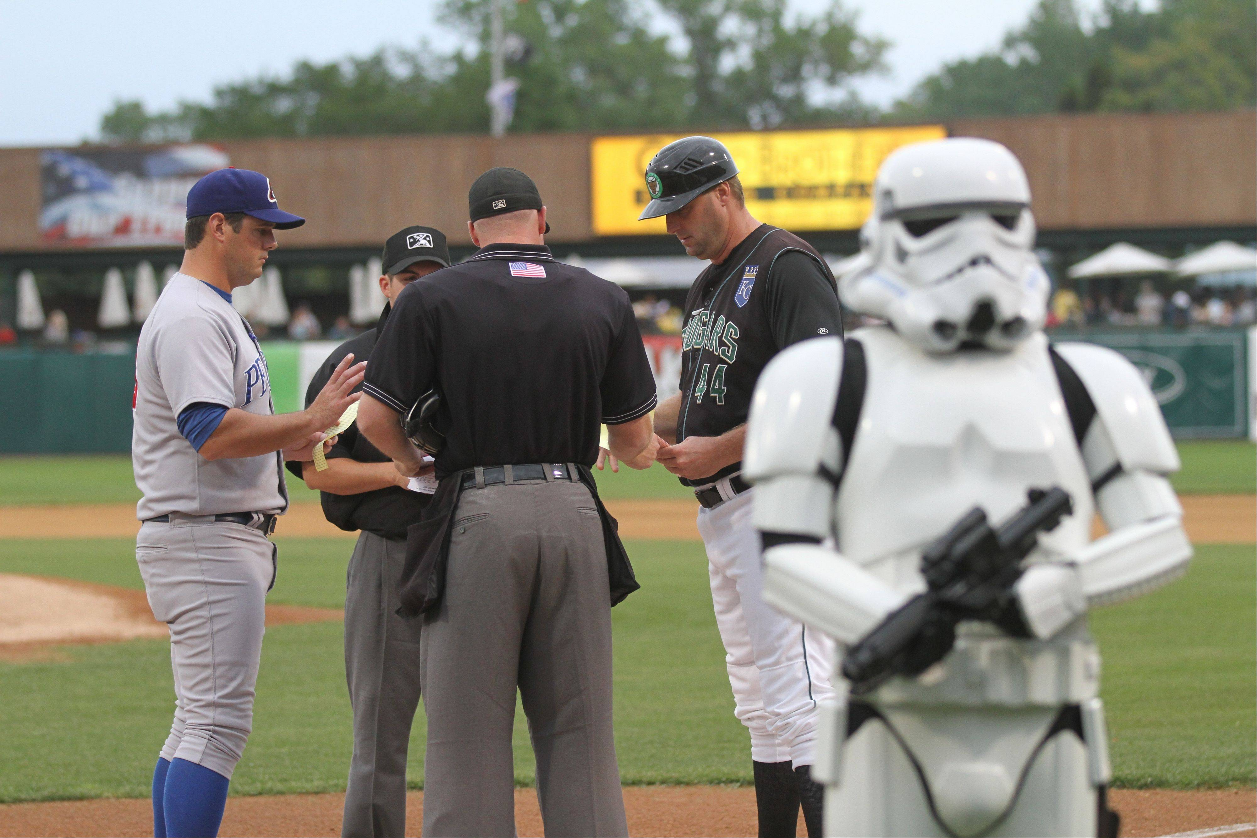 Storm troopers will take to the field when the Kane County Cougars host Star Wars night Saturday, Aug. 31, in Geneva.