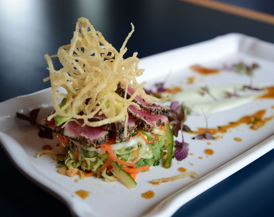 Ahi tuna is not your usual pub fare, but it's nicely done at McChesney's Pub & Grill at Prairie Landing Golf Club in West Chicago.