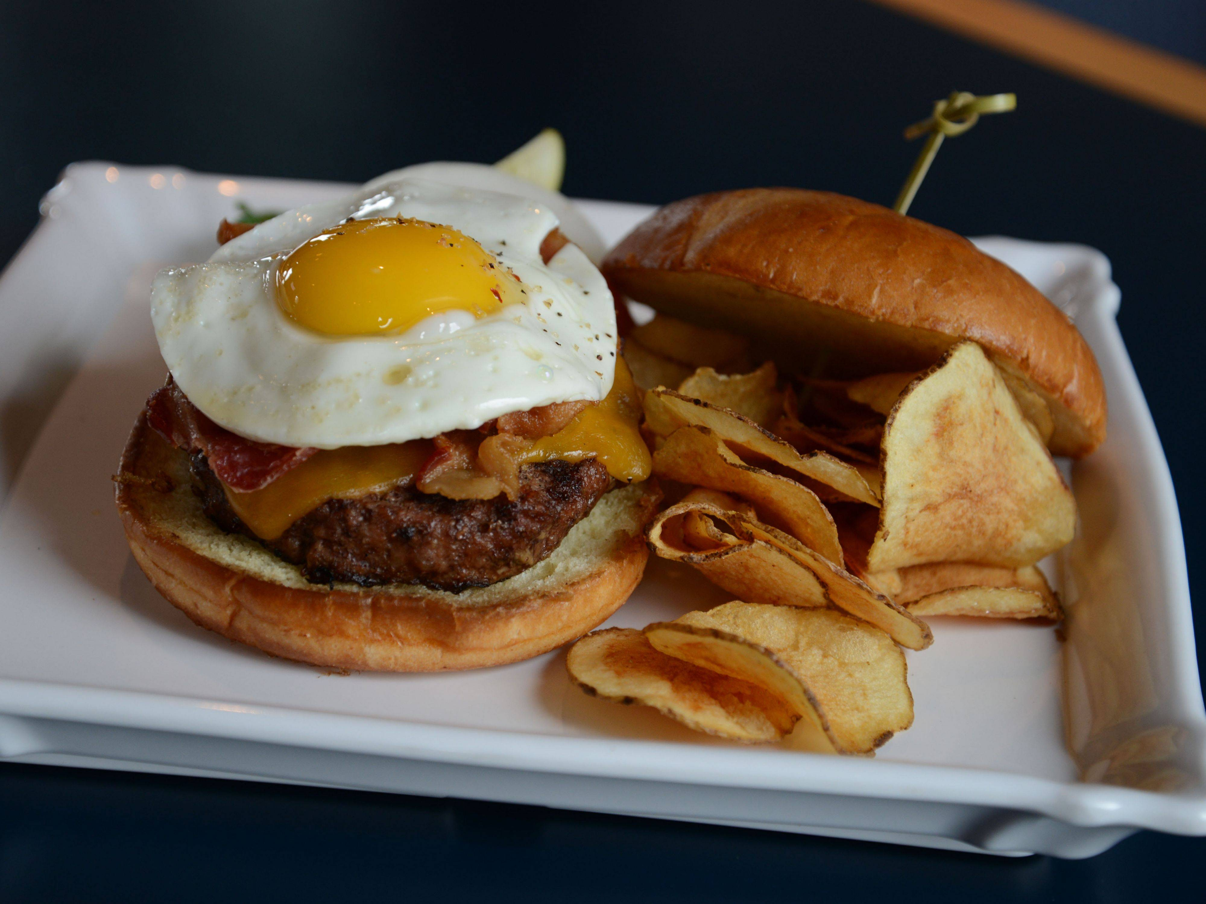 Whether or not you score one on the links, you can enjoy a Hole-in-One Burger at McChesney's Pub & Grill at Prairie Landing Golf Club in West Chicago.
