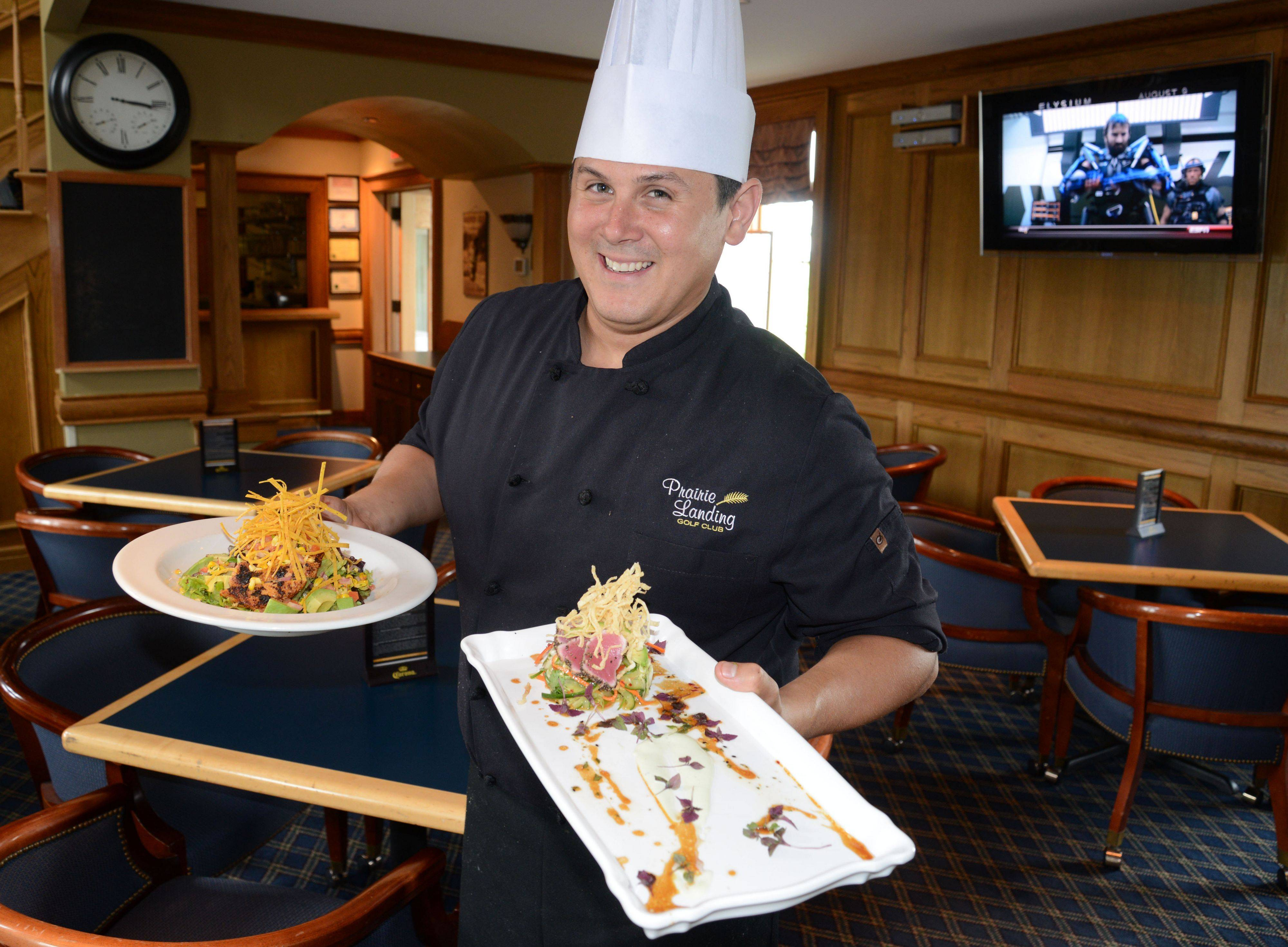 Chef Gregory Anetsberger executes the menu at McChesney's Pub & Grill at Prairie Landing Golf Club in West Chicago.