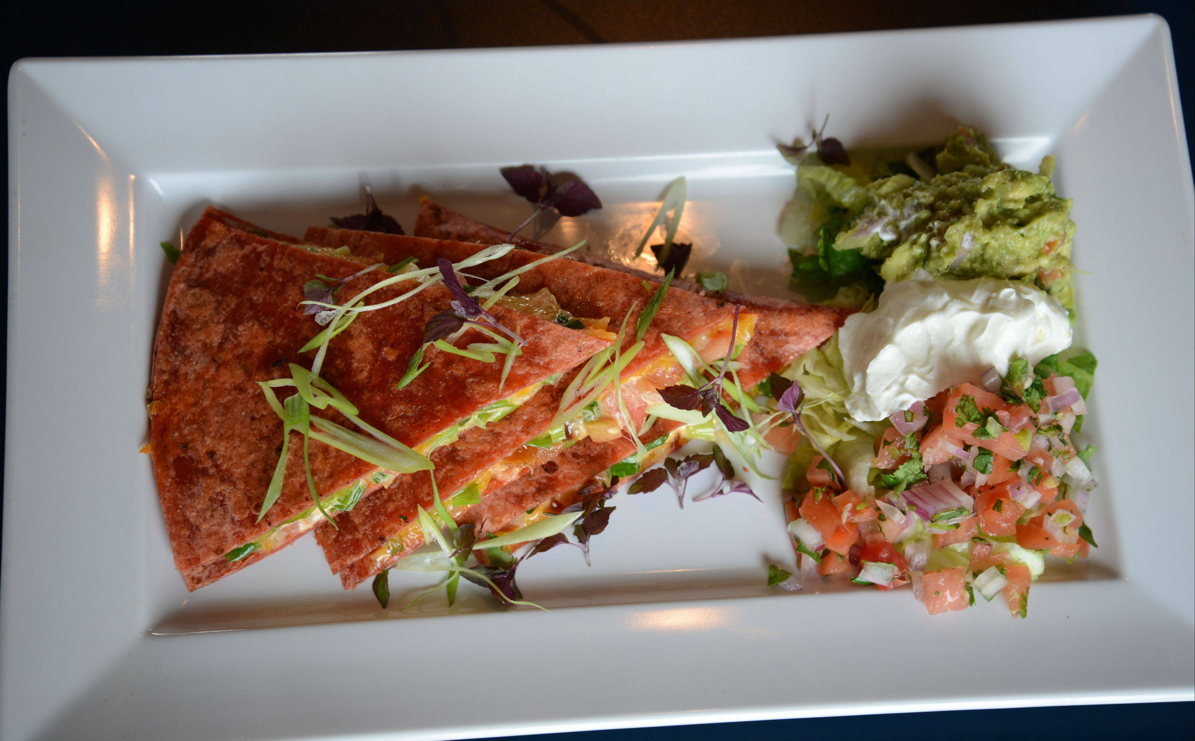 The quesadilla appetizer at McChesney's Pub & Grill could almost be a meal.