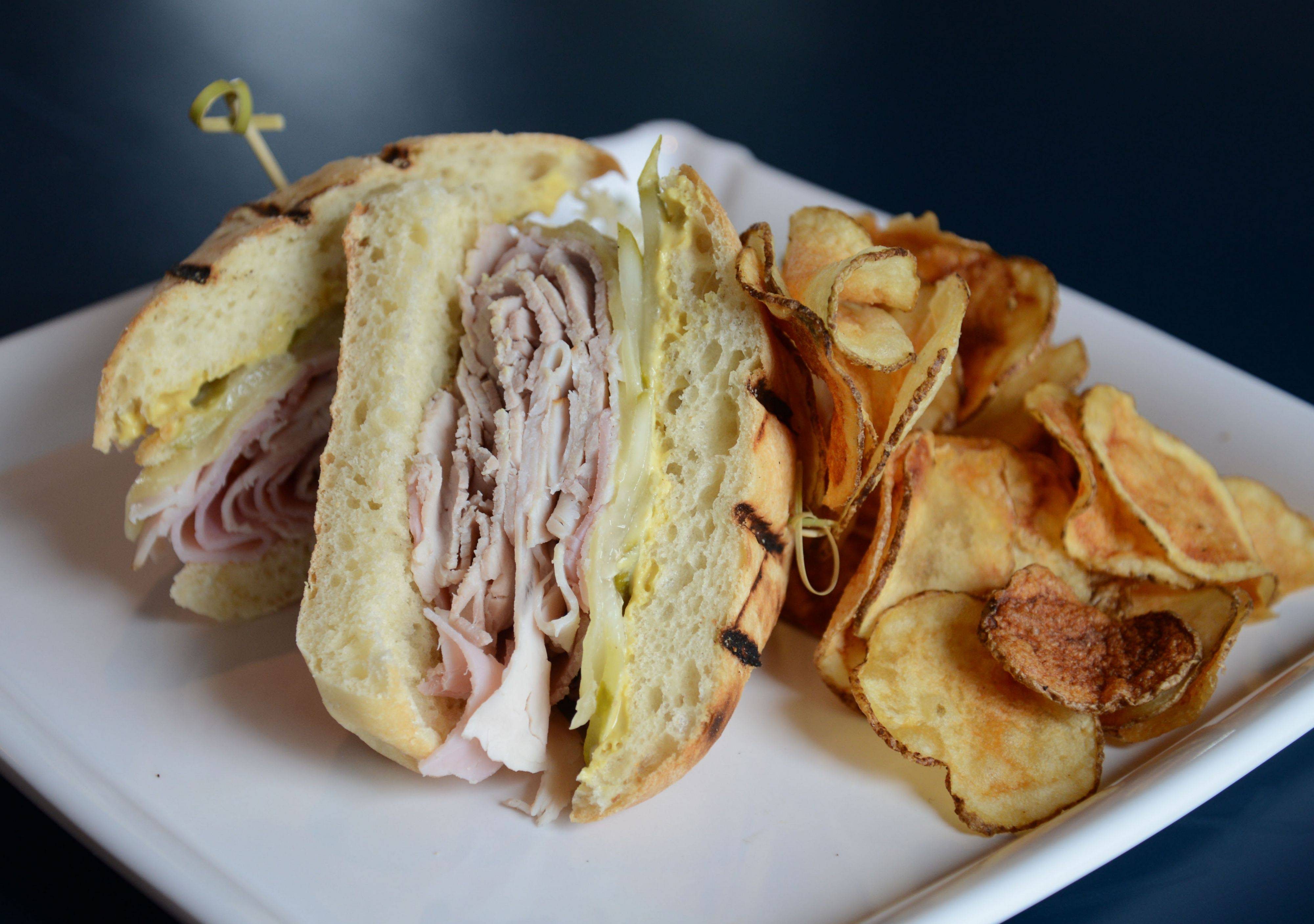 The Cuban Panini is one of the many well-executed sandwiches on the menu at McChesney's Pub & Grill at Prairie Landing Golf Club in West Chicago.
