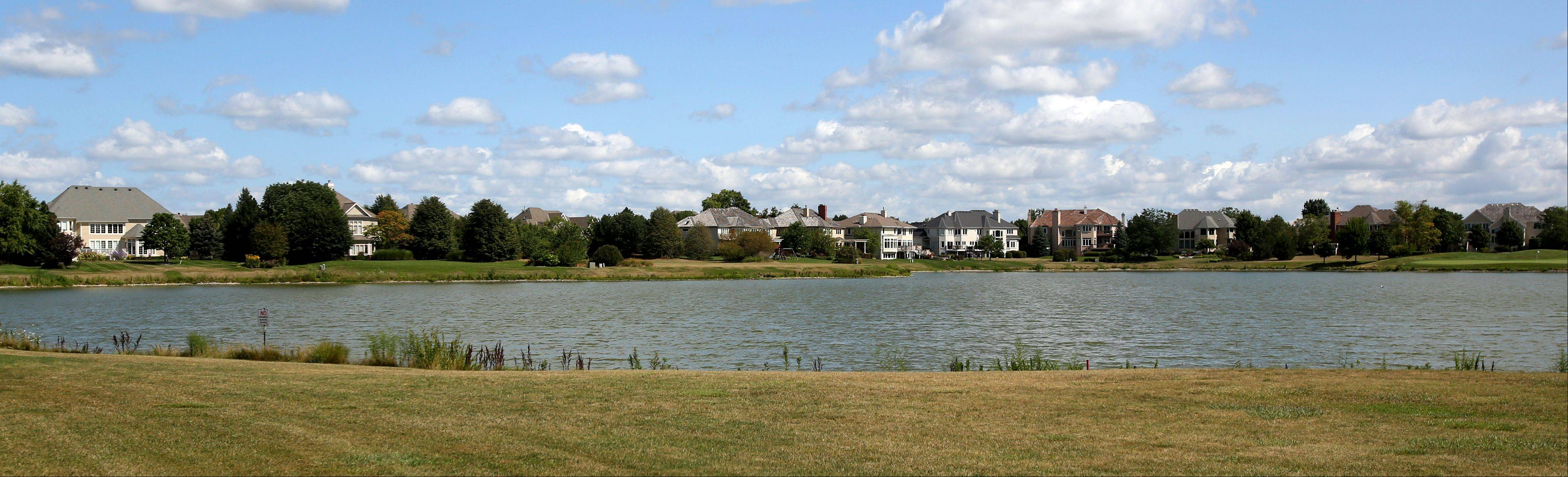 Many houses in White Eagle Club back up to a pond or the White Eagle Golf Club course.