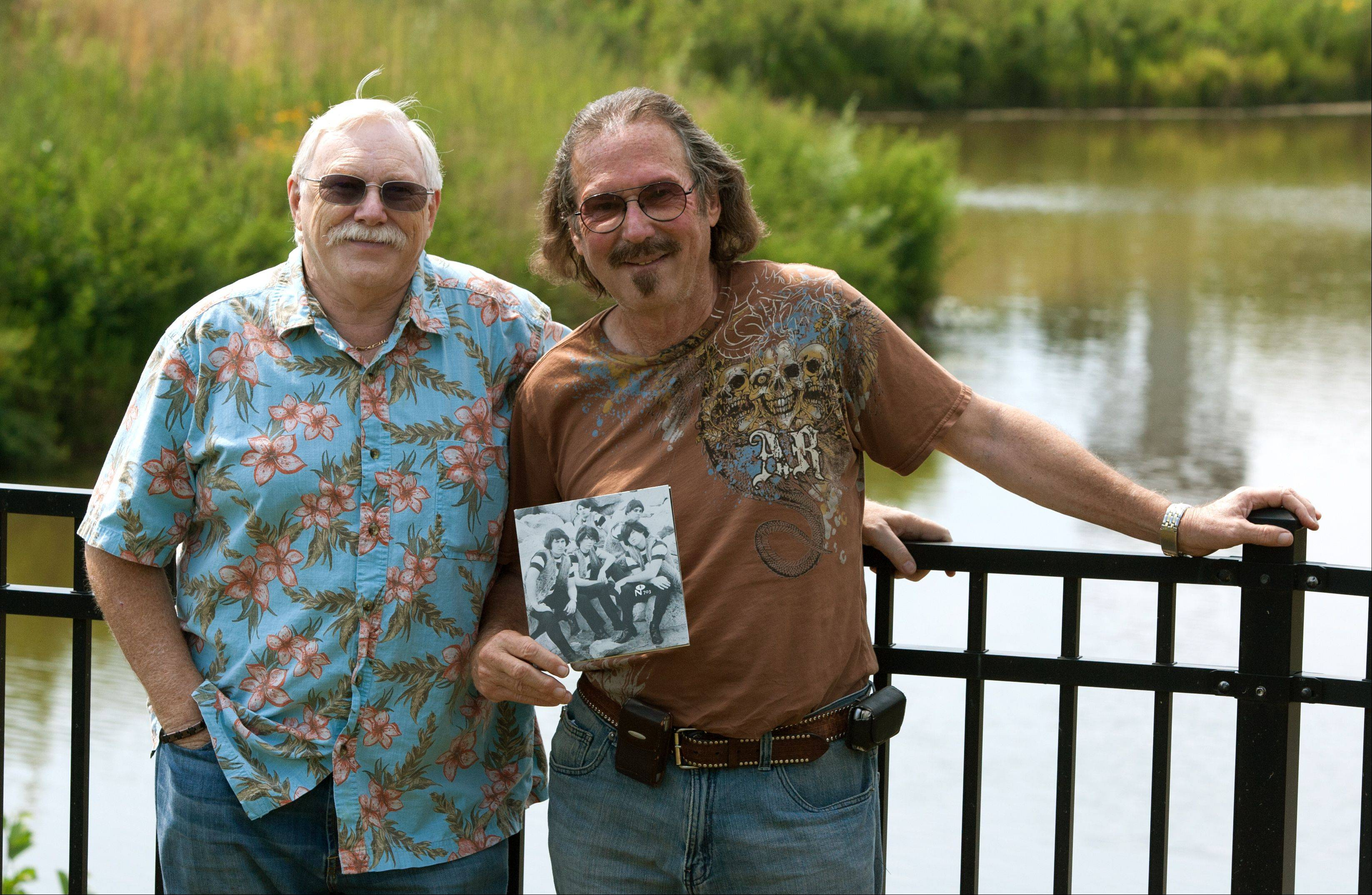 Despite disputes about their history in the 1960s garage-rock band the Cave Dwellers, Gary Goldberg, right, and Peter Budd have reunited and hope to play music together again.