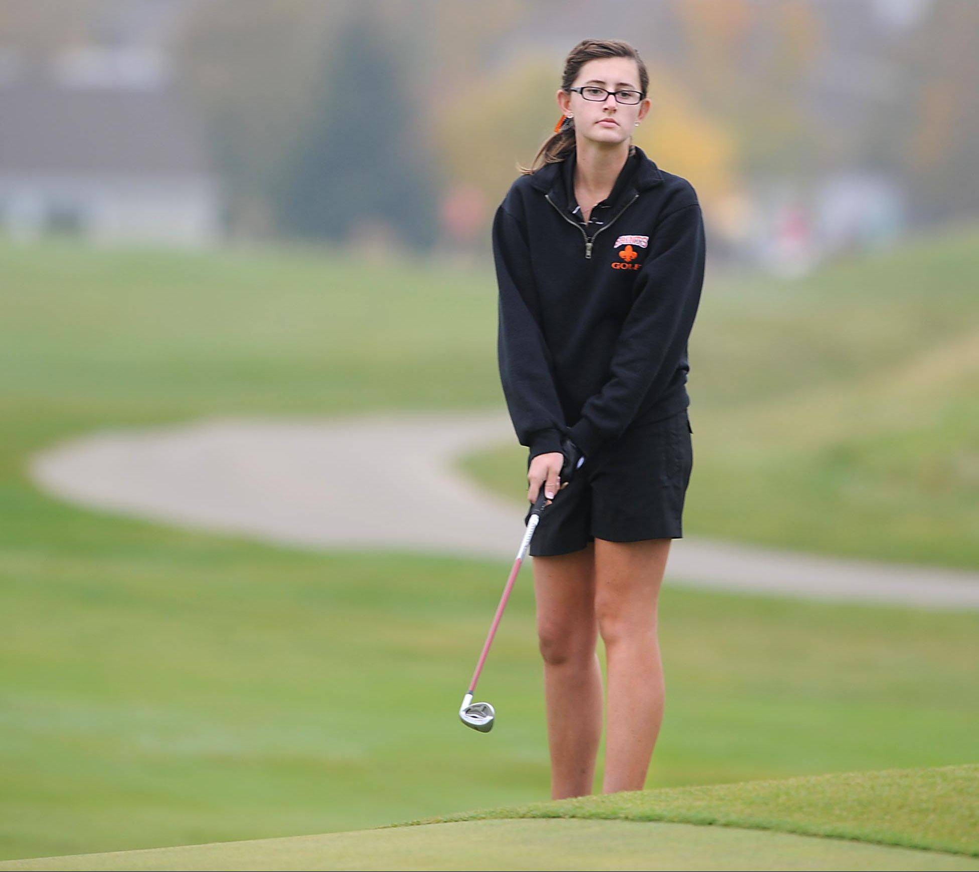 St. Charles East's Darby Crane, above, and St. Charles North's Jessica Grill, below, are two of the area's top returning players.
