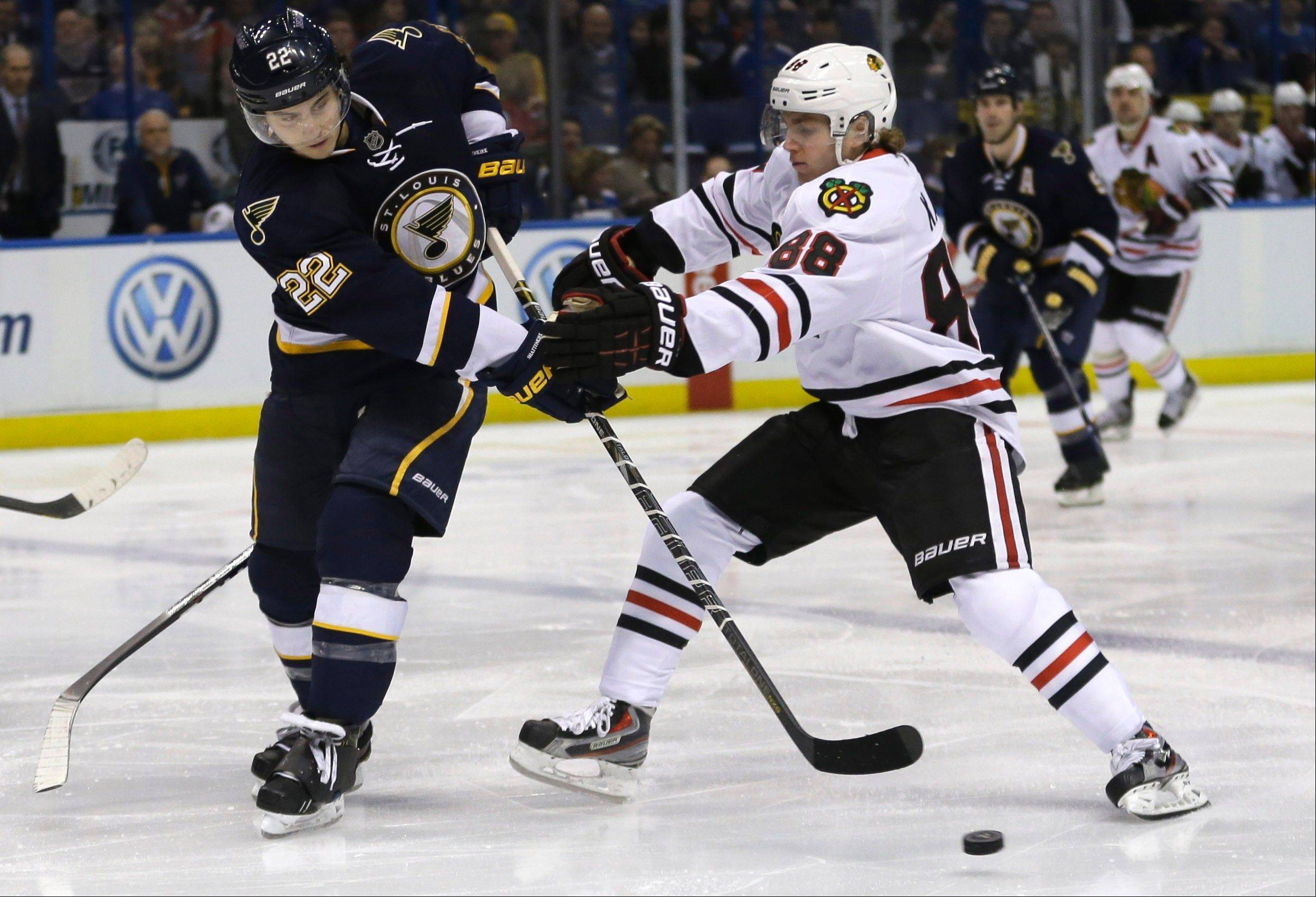 "When the St. Louis Blues battle the Blackhawks and Patrick Kane on the Scottrade Center ice this season, the Blues don't want to see many Blackhawks fans in the stands. They've blocked single-game sales for Hawks tickets, following a ""keep the red out"" plan started by Nashville."