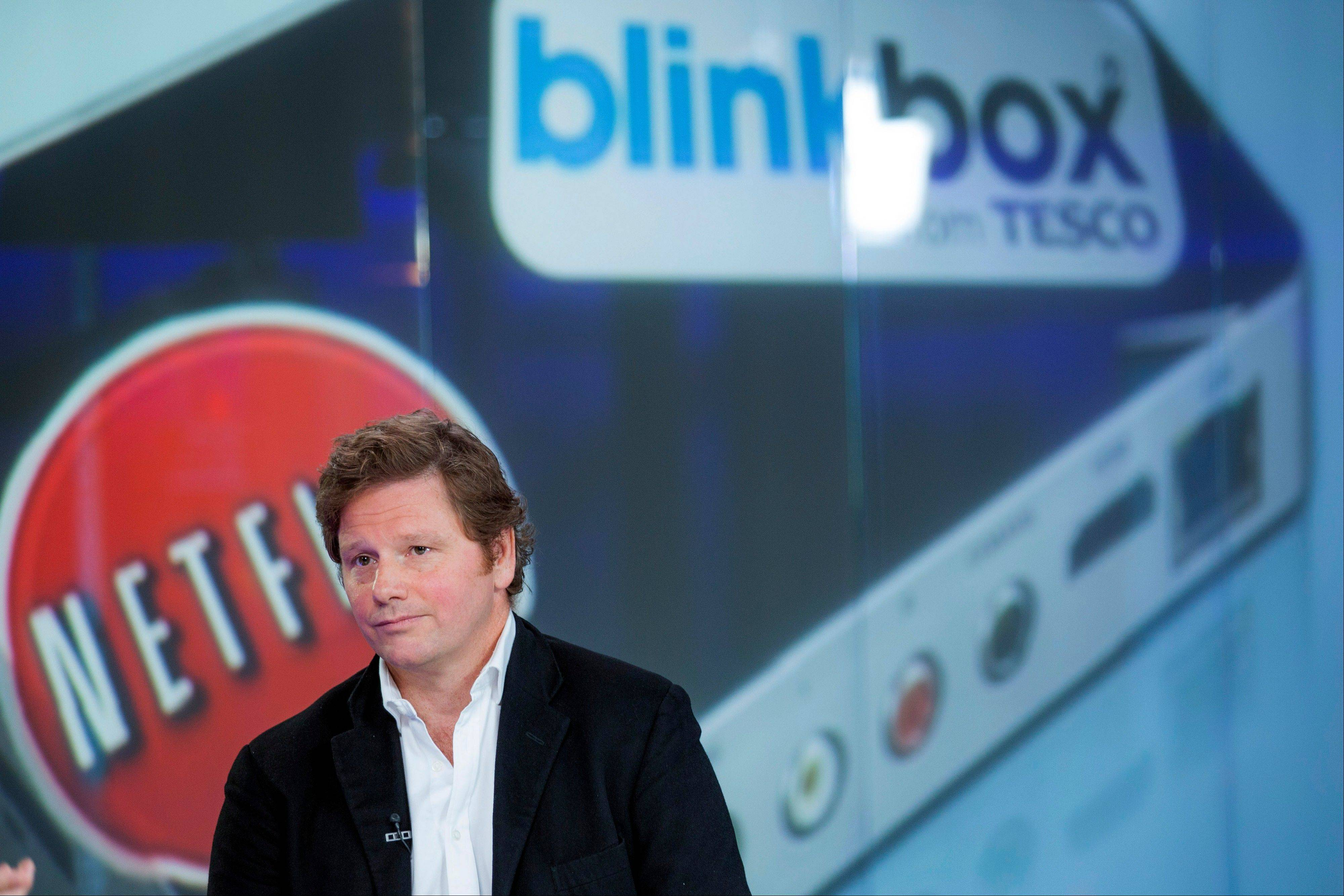 Adrian Letts, chief operating officer of Blinkbox, pauses Monday during a Bloomberg Television interview in London, U.K.
