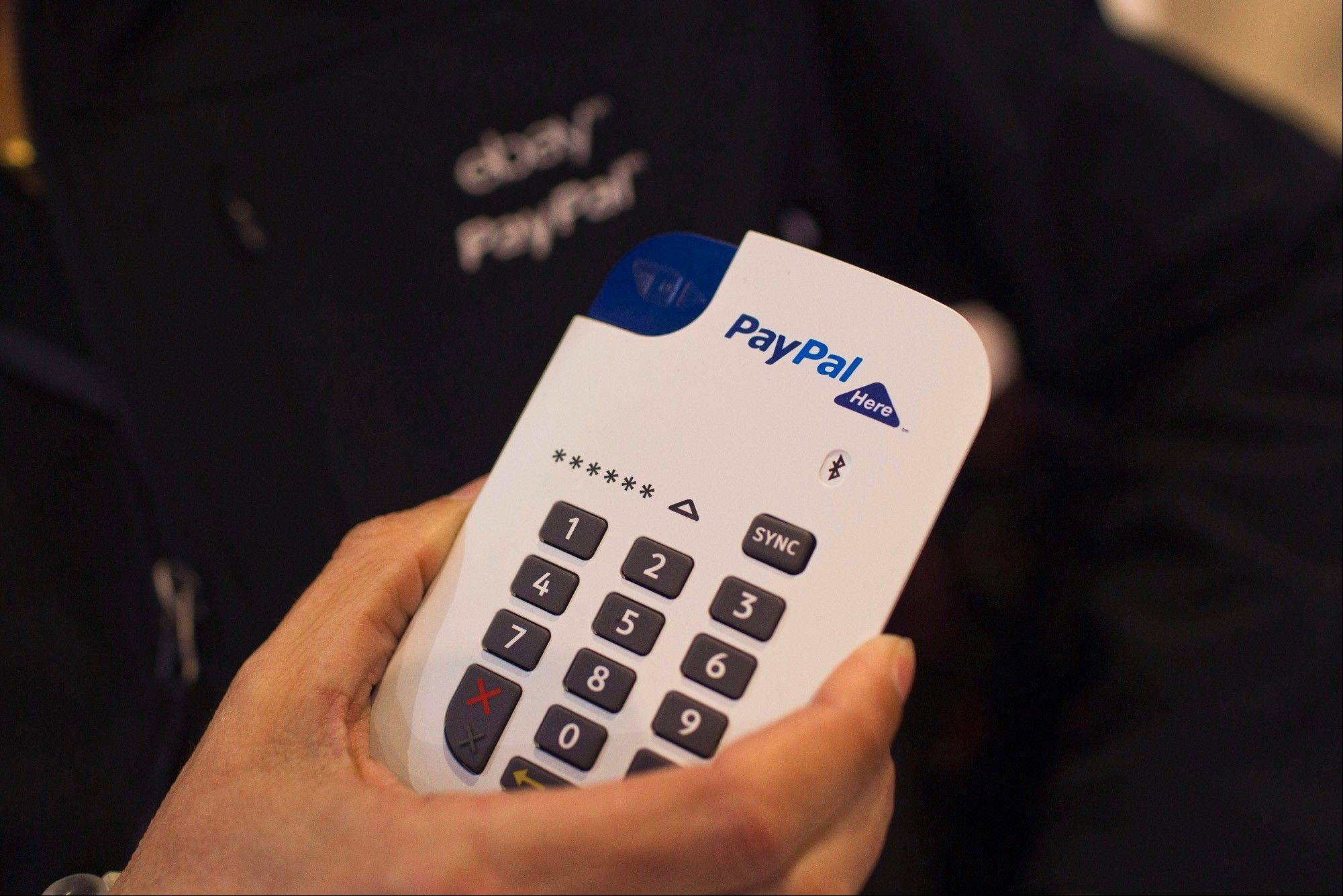PayPal's new chip-and-pin payment device for small businesses, shown in February in Barcelona, Spain. The market for tools that help consumers buy goods via mobile phones is getting crowded, putting off venture capitalists and making it hard for many payment startups to compete against providers like PayPal.