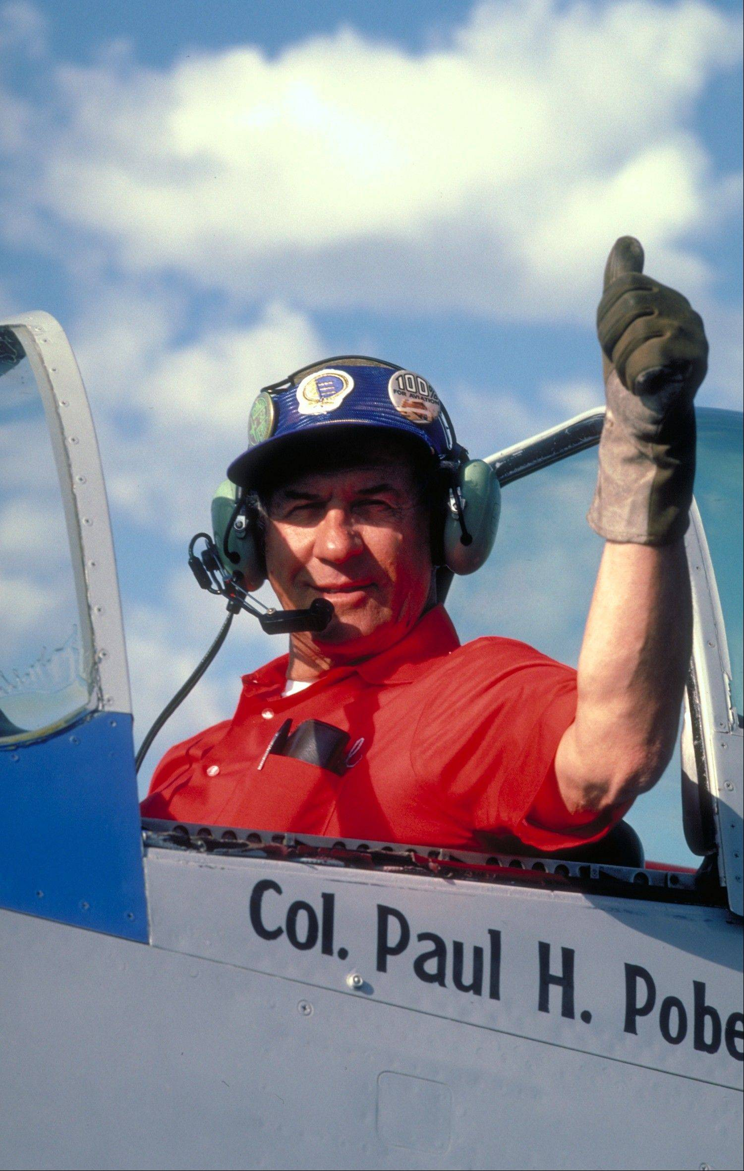 Paul Poberenzy, in the cockpit of his P-51.