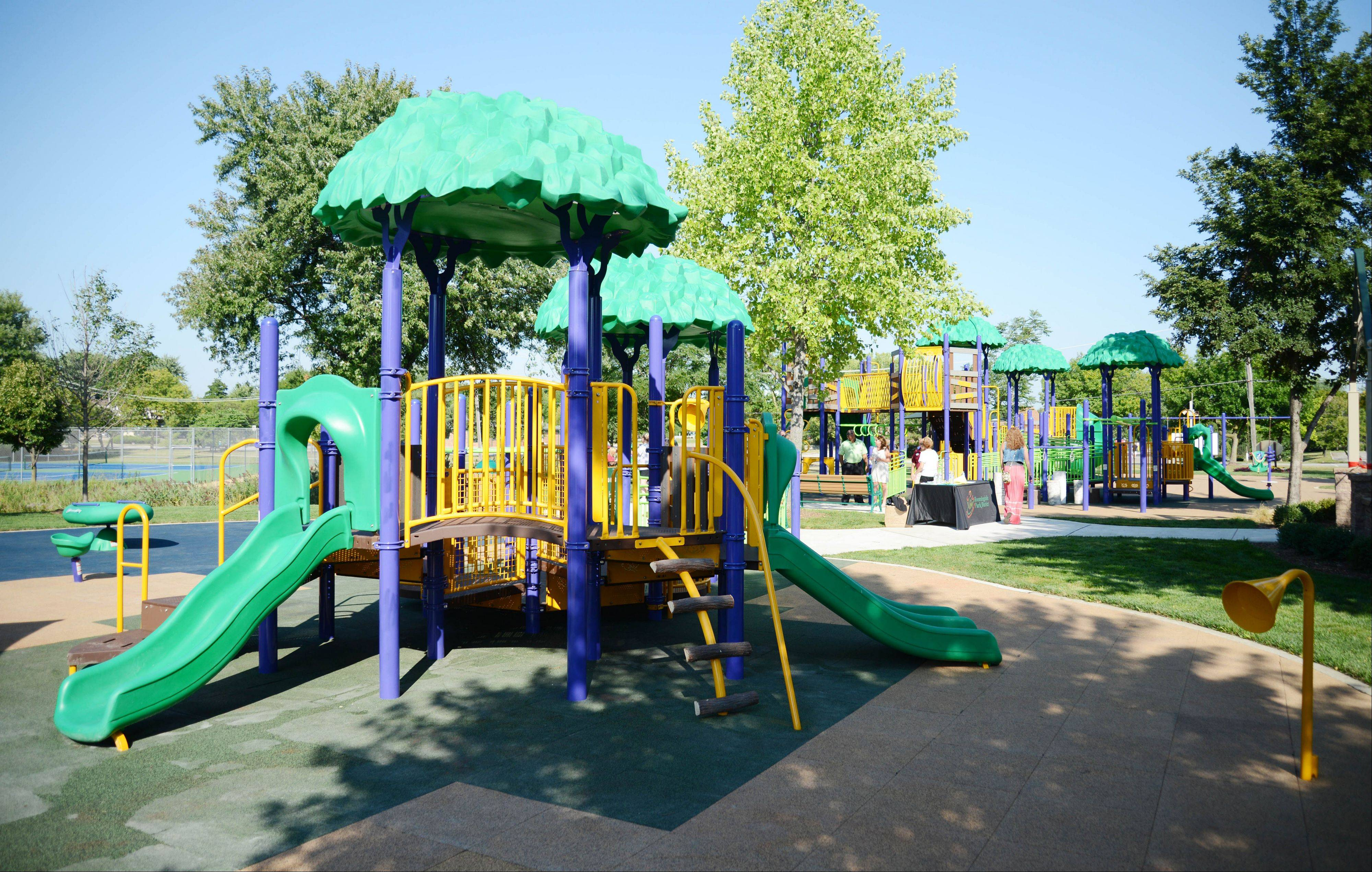 Sunnyside Accessible Park in Bloomingdale has a playground structure that's fully accessible for children of all abilities.