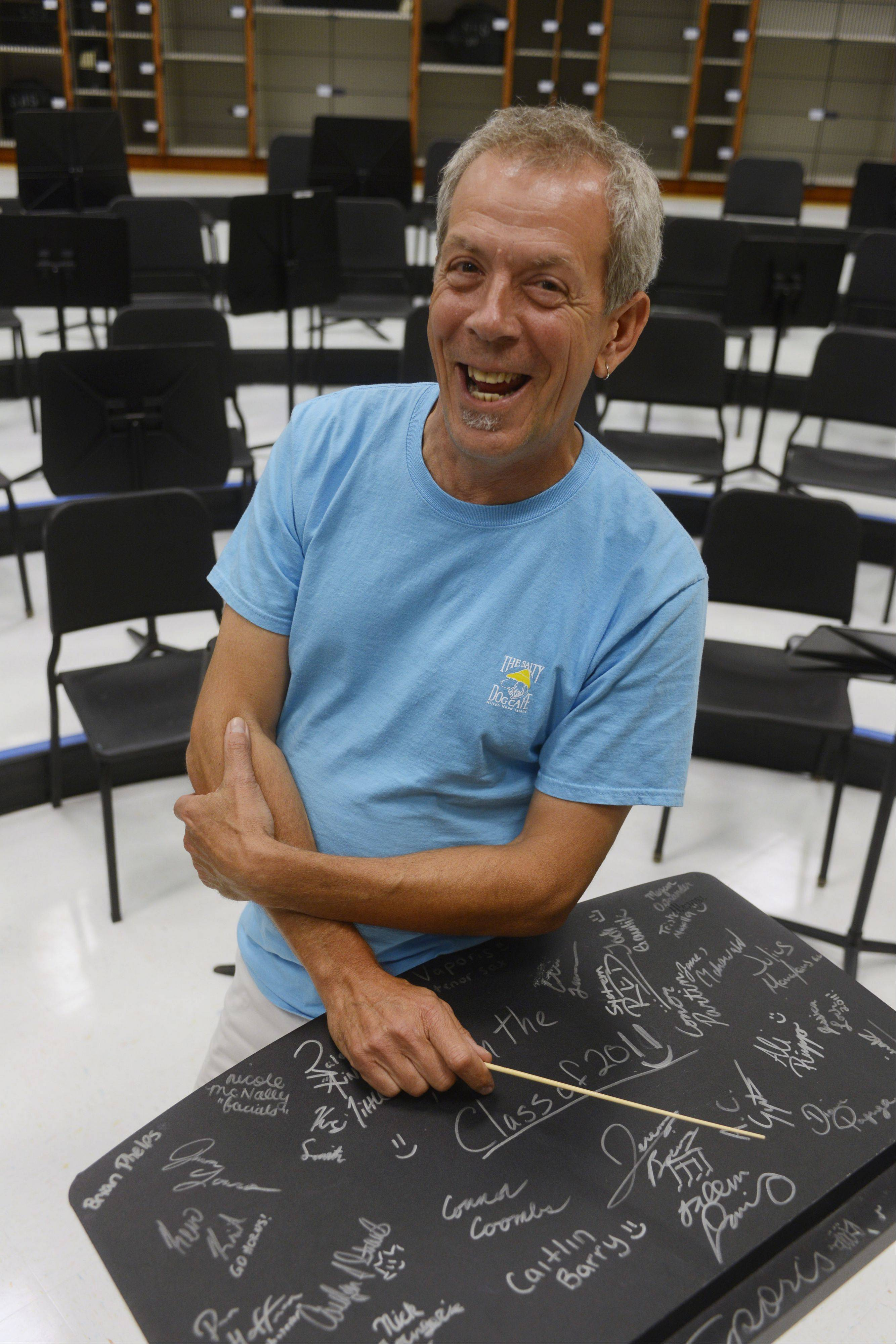 Kevin Miller, music department chair at Schaumburg High, will retire in June.