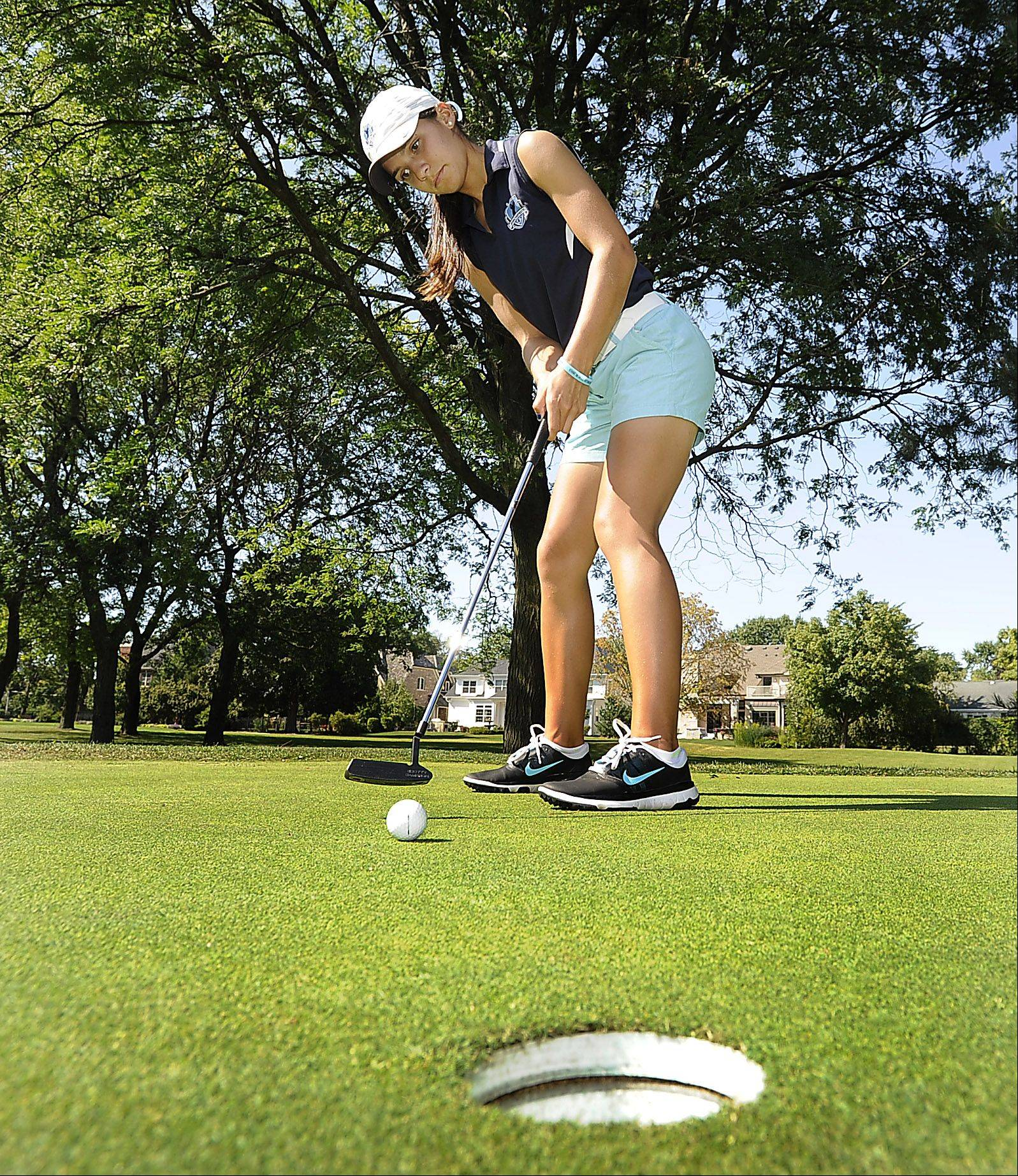 Ally Scaccia is helping Prospect maintain its strong record of success in girls golf.