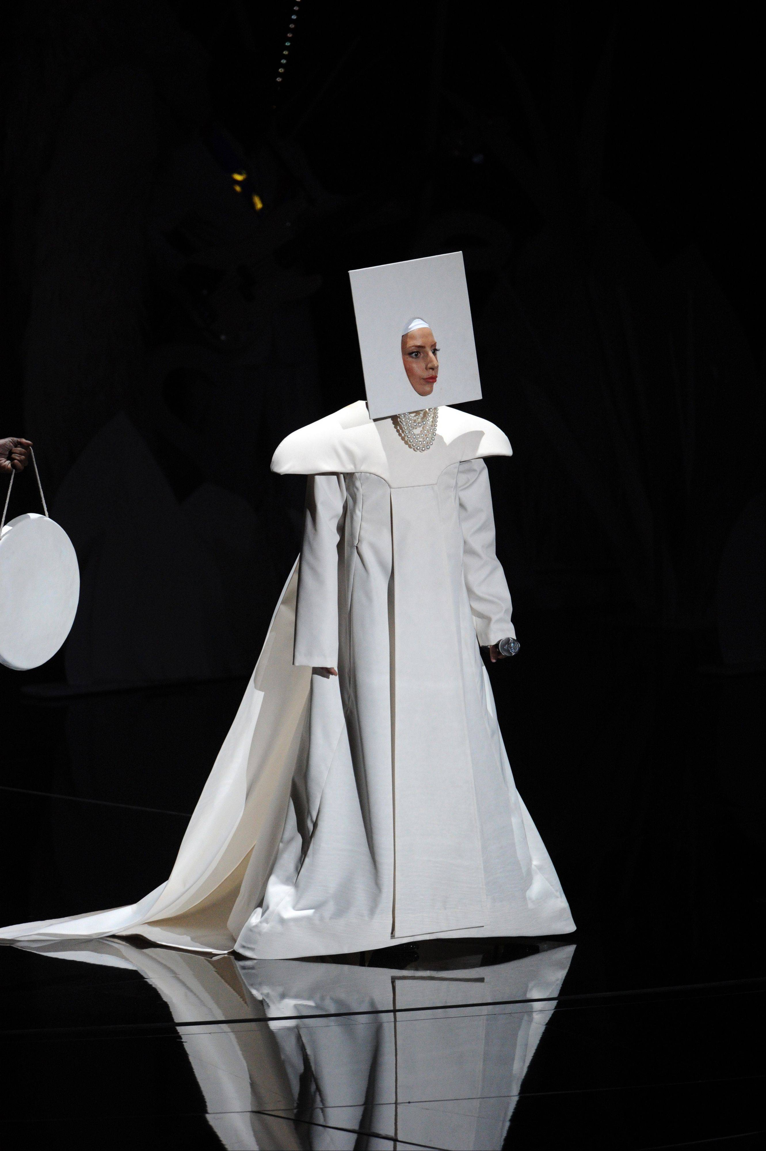 Lady Gaga performs at the MTV Video Music Awards on Sunday, Aug. 25, 2013, at the Barclays Center in the Brooklyn borough of New York.