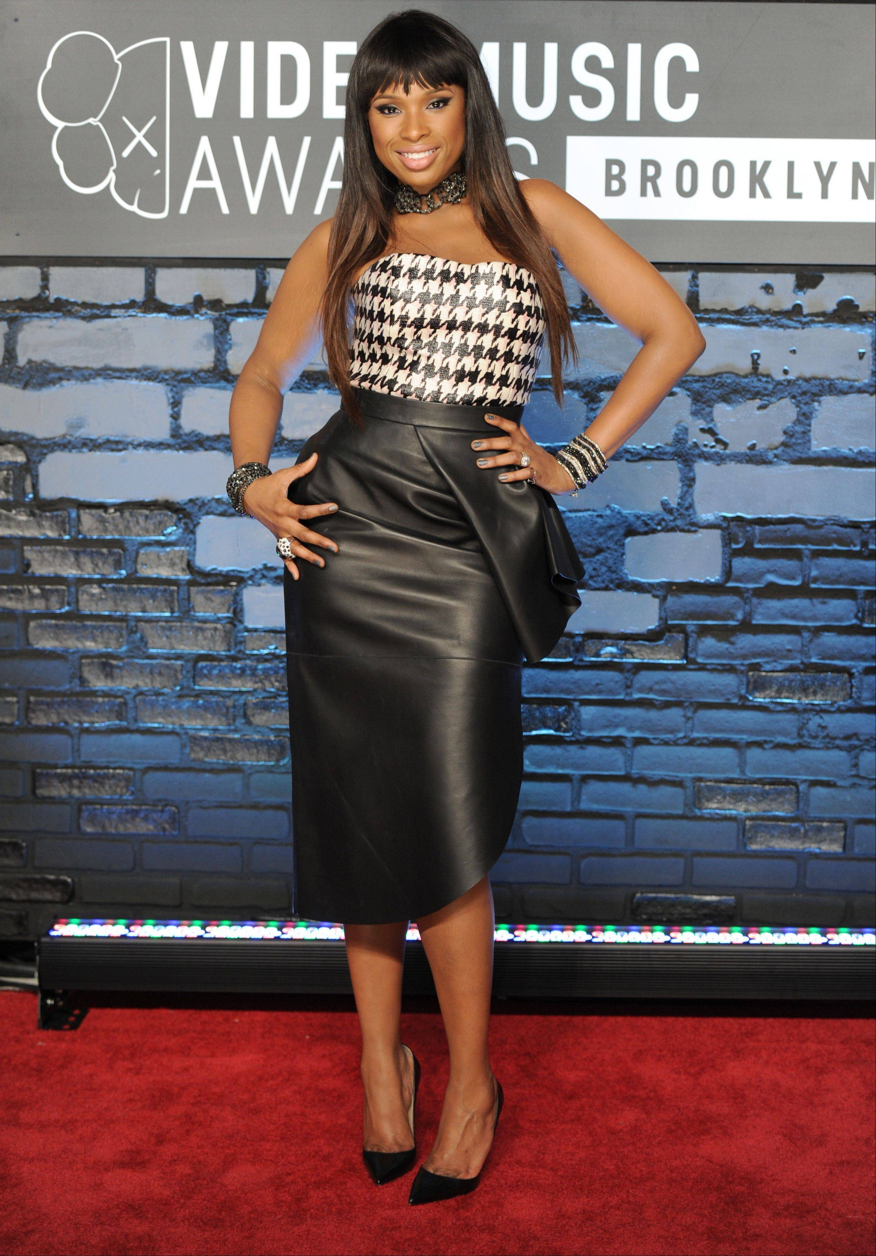 Jennifer Hudson arrives at the MTV Video Music Awards on Sunday, Aug. 25, 2013, at the Barclays Center in the Brooklyn borough of New York.
