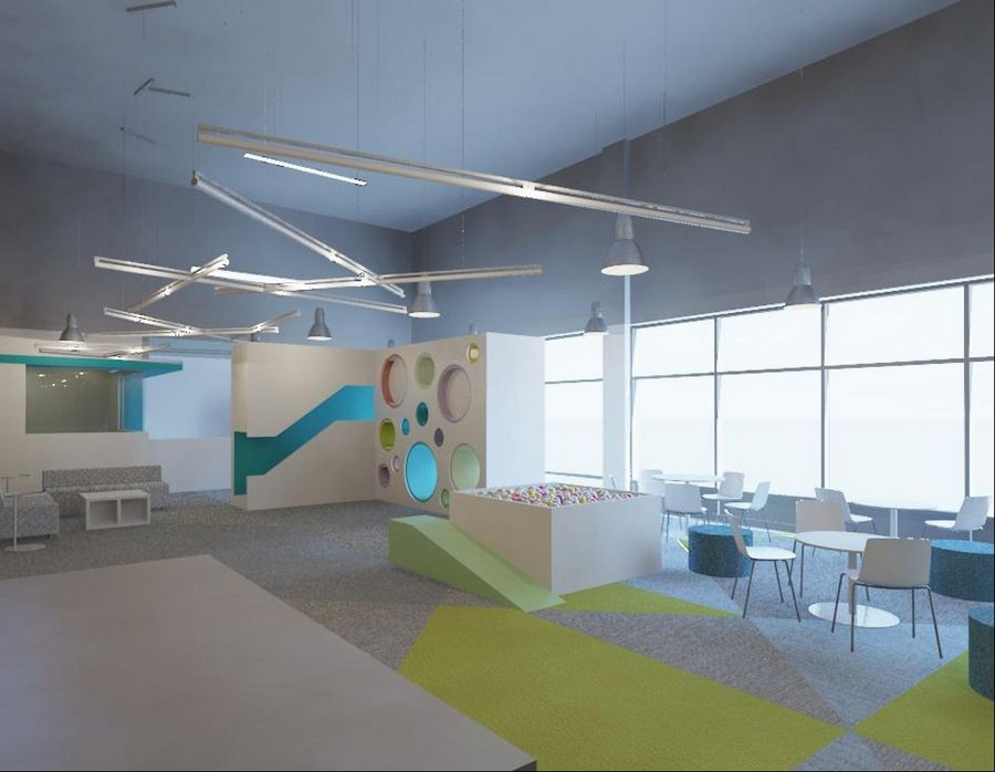 The new National Achievement Center for GiGi's Playhouse in Hoffman Estates will feature a colorful, updated playroom.